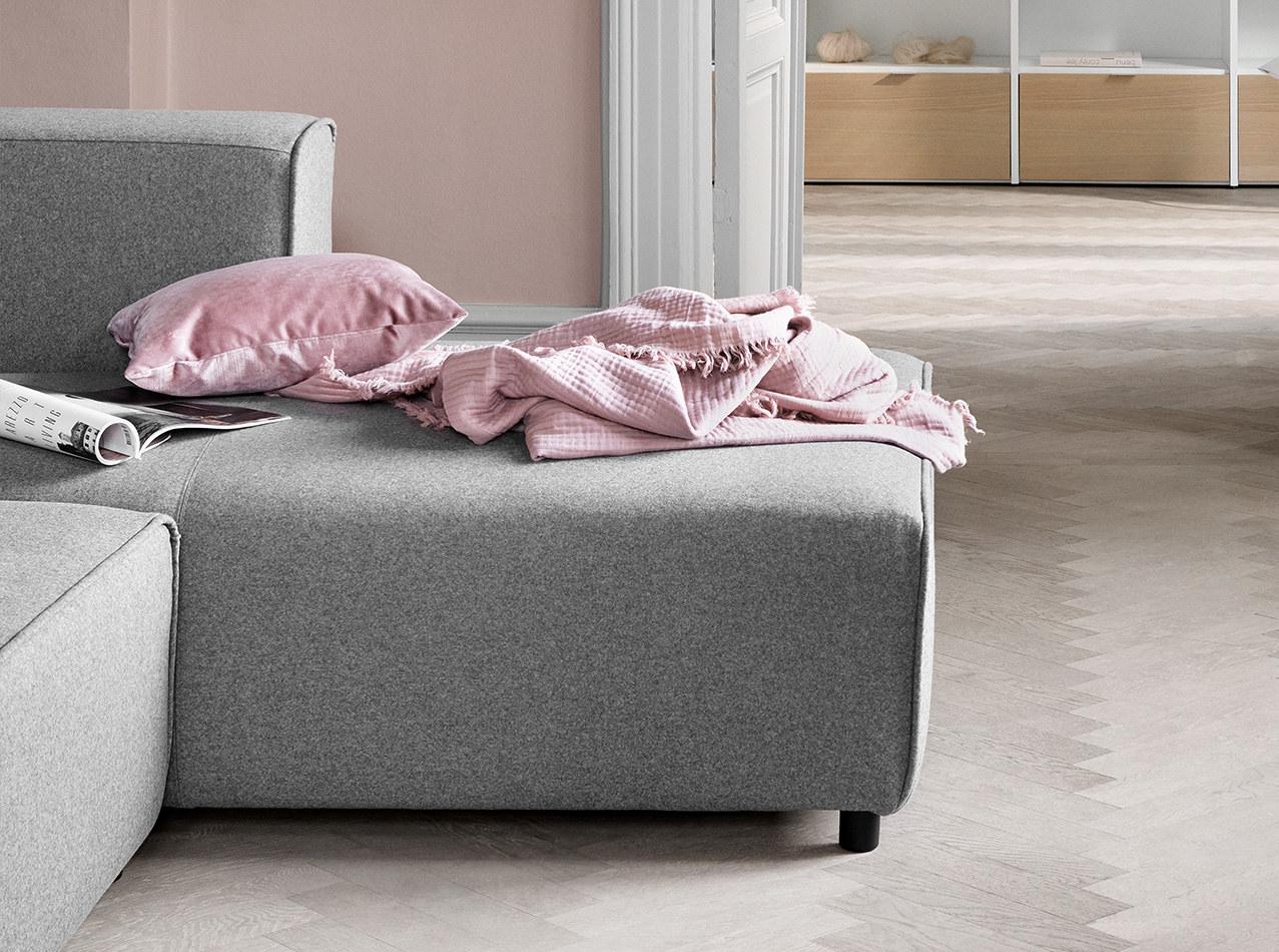 Sofás reclinables - Sofá Carmo con movimiento y módulo de descanso