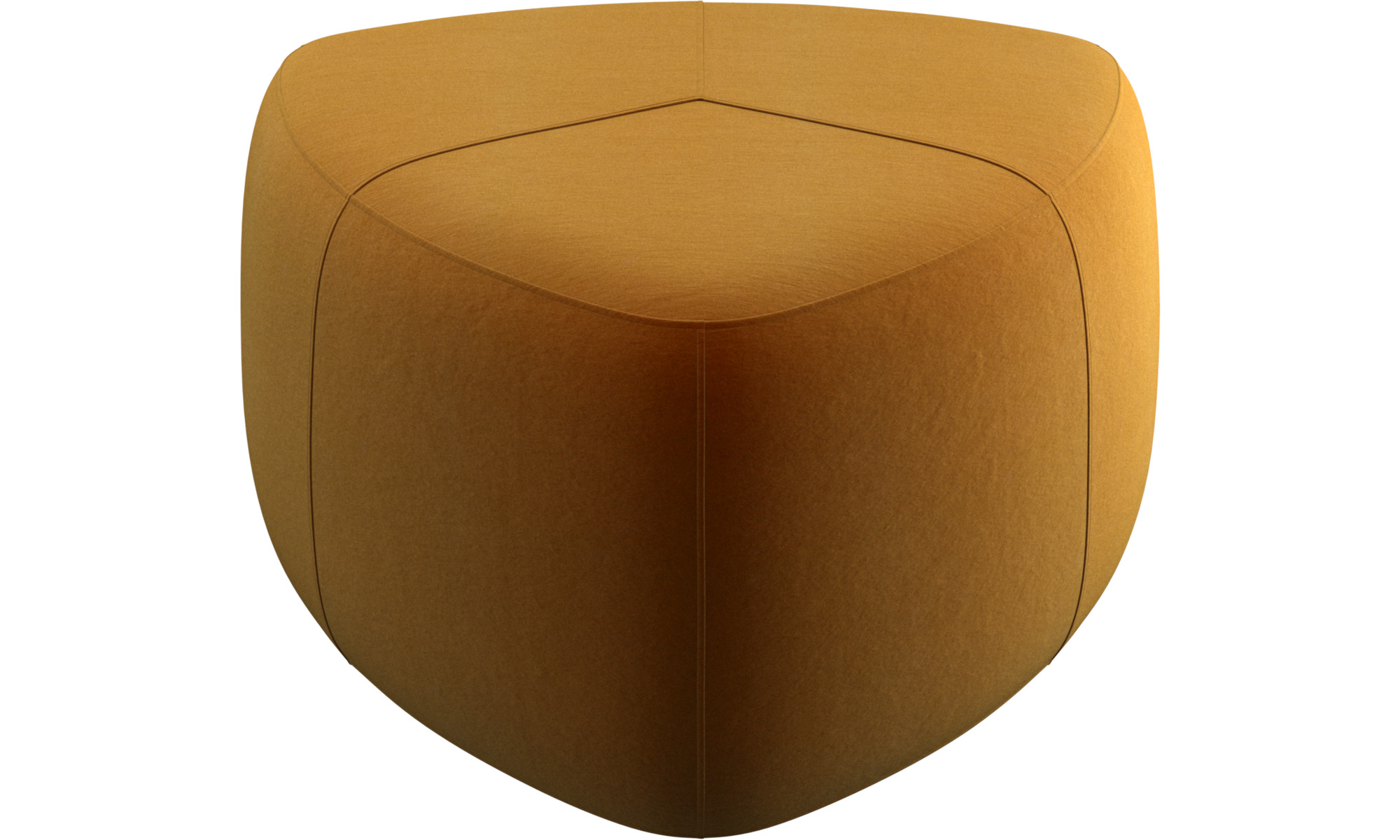 Sofa Hocker - Bermuda Hocker - Gelb - Stoff