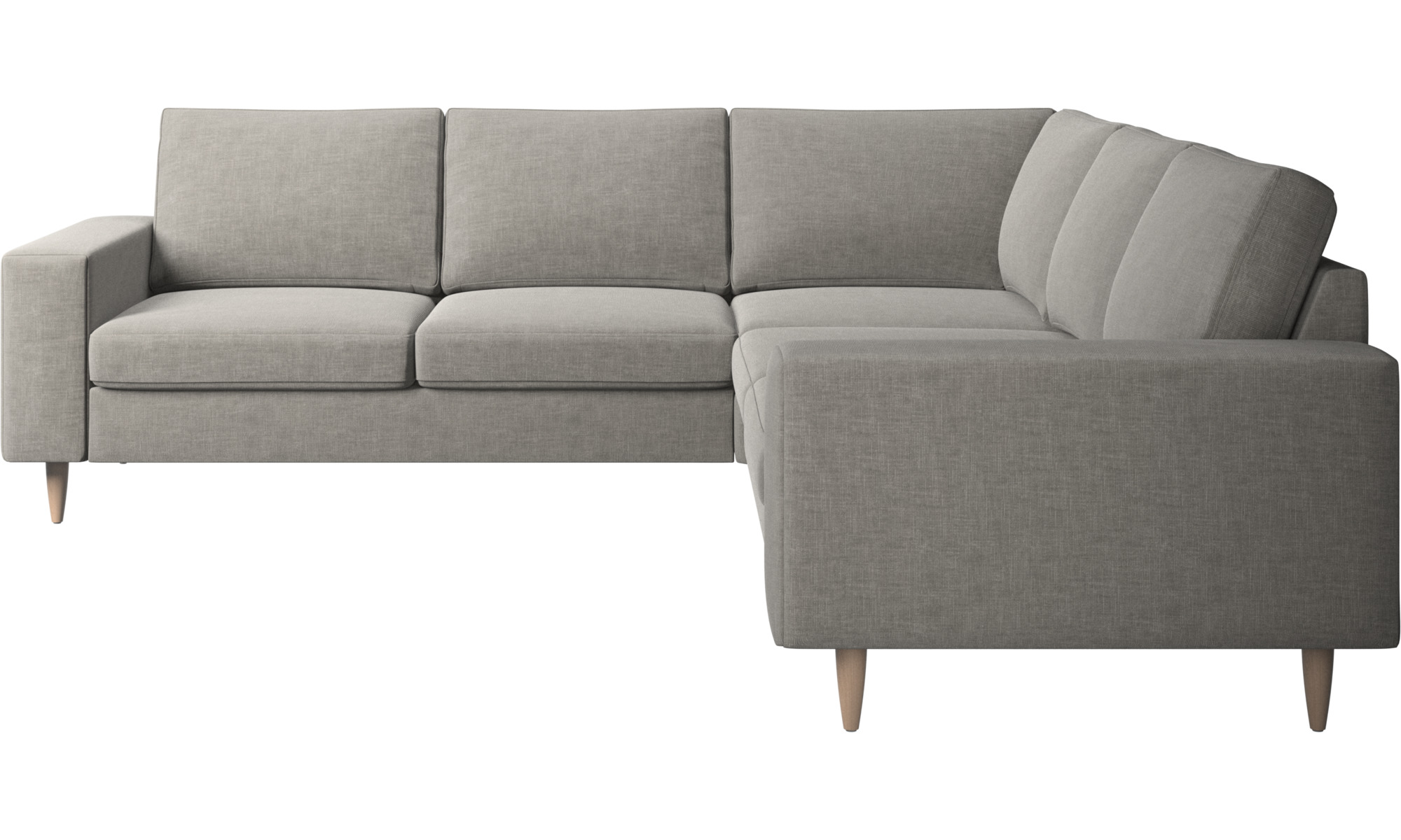Corner sofas - Indivi corner sofa - Grey - Fabric