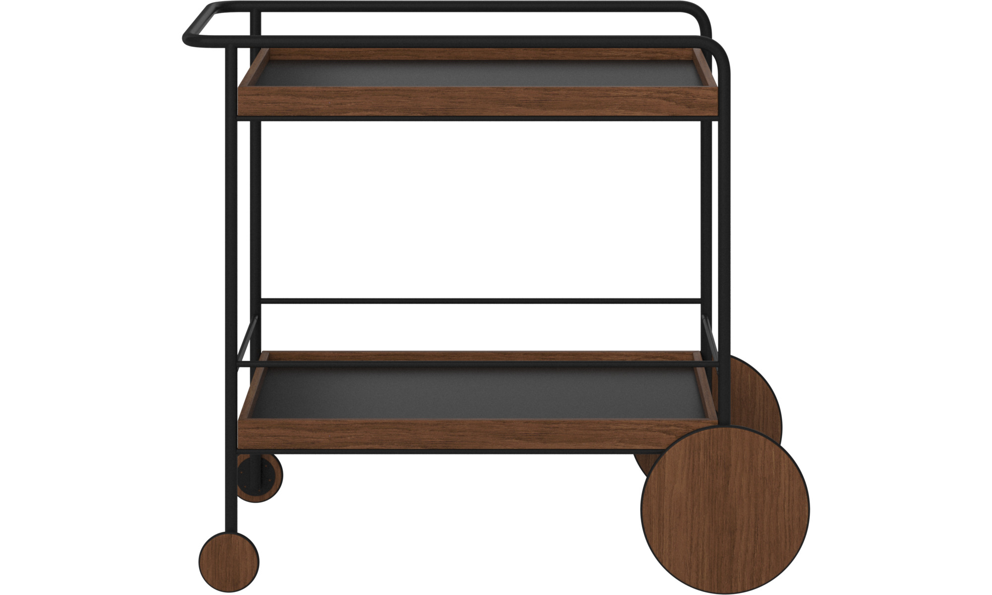 Hallway furniture - Sydney trolley - rectangular - Brown - Lacquered