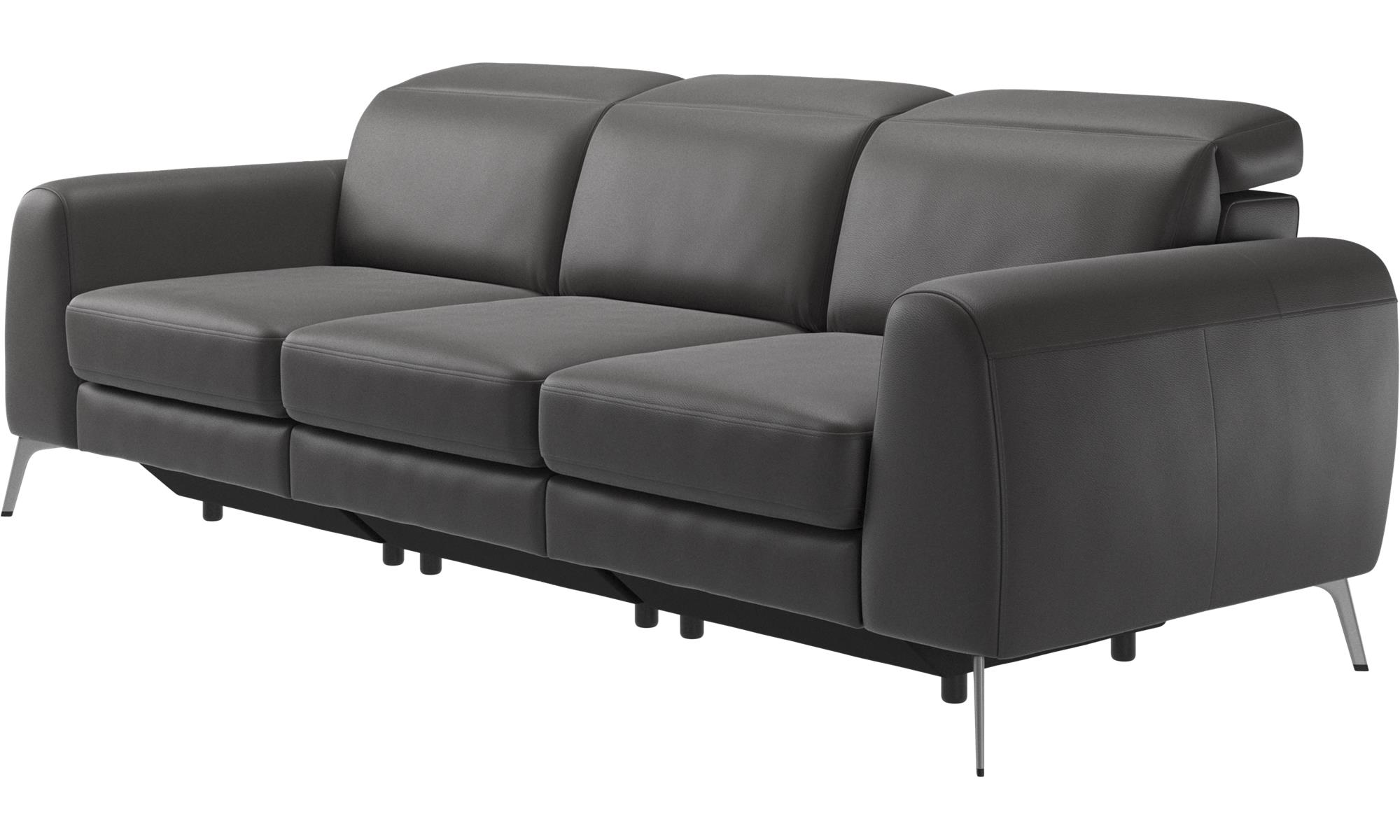 3 seater sofas madison sofa with adjustable headrest. Black Bedroom Furniture Sets. Home Design Ideas