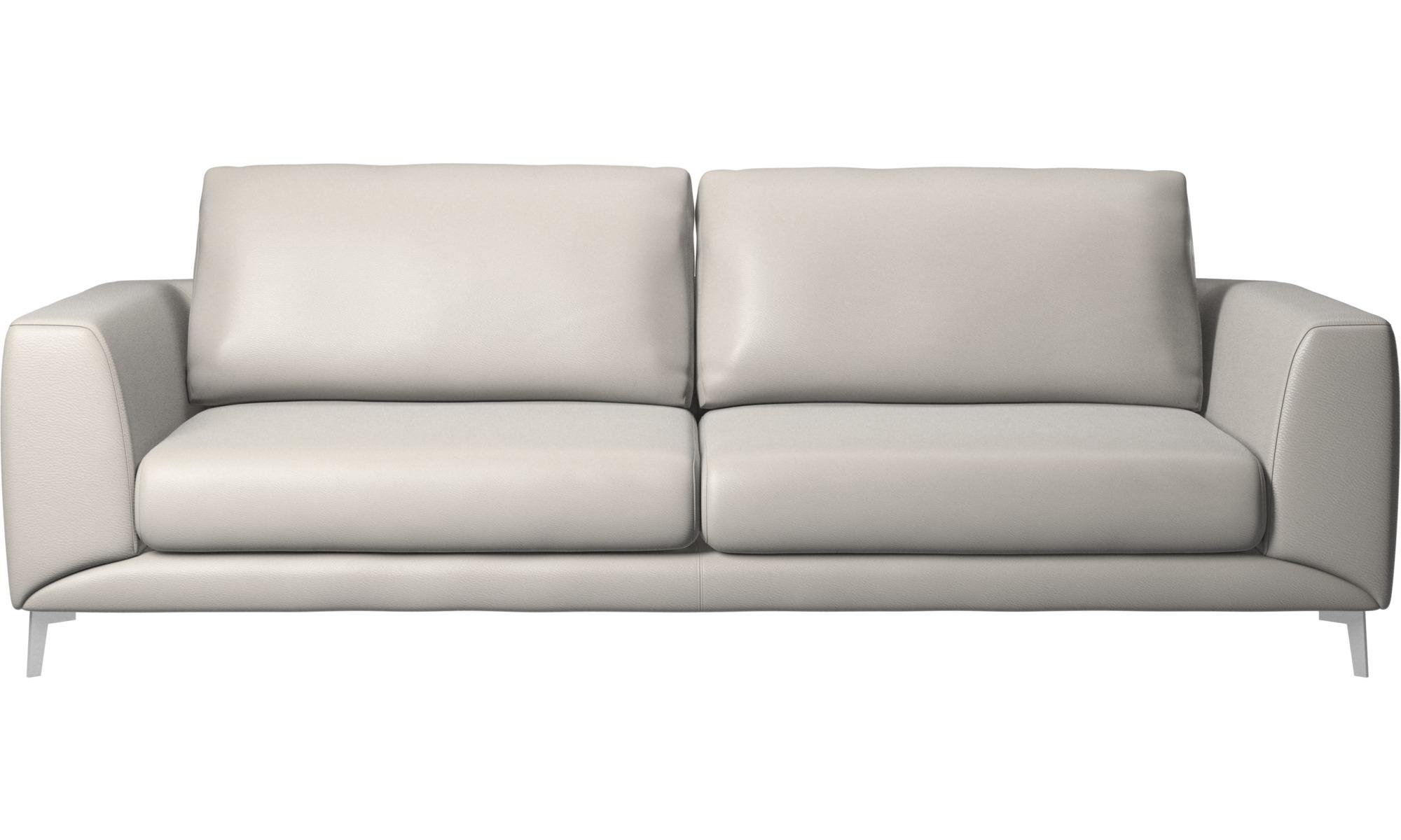 3 personers sofaer - Fargo sofa - Grå - Læder