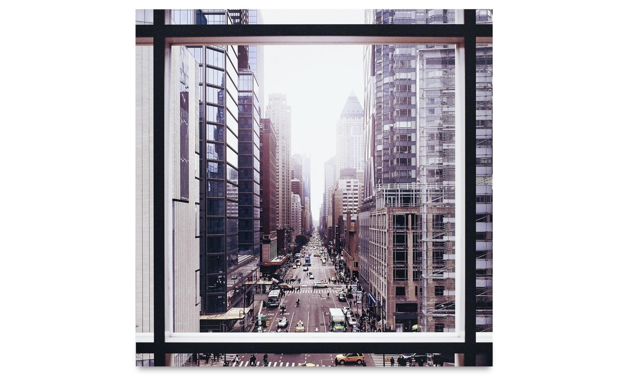Gallery - City metal print, Manhattan the street - Metal