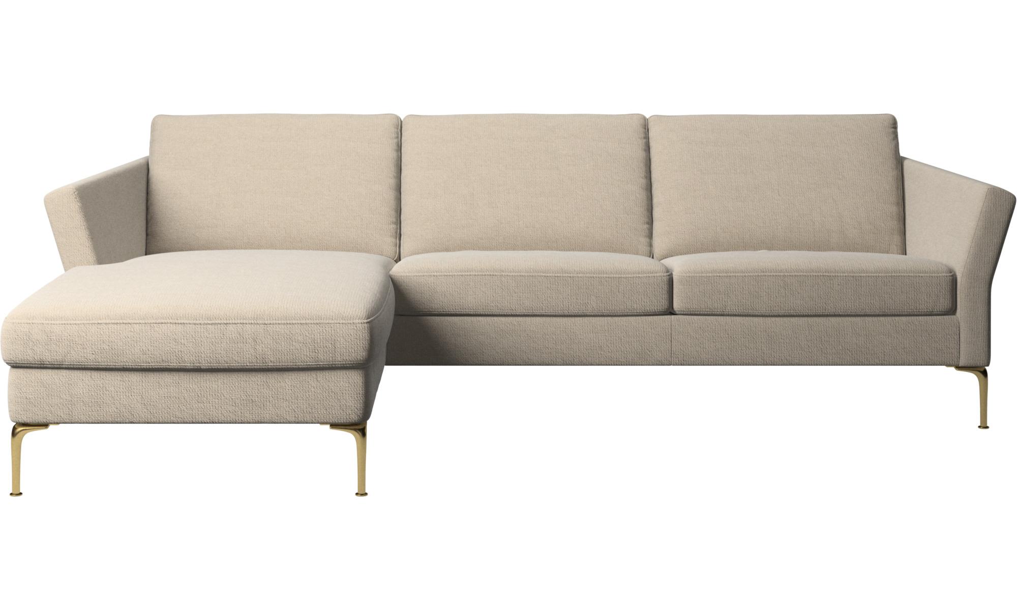 Canapés avec chaise longue - Canapé Marseille avec chaise longue - Beige - Tissu