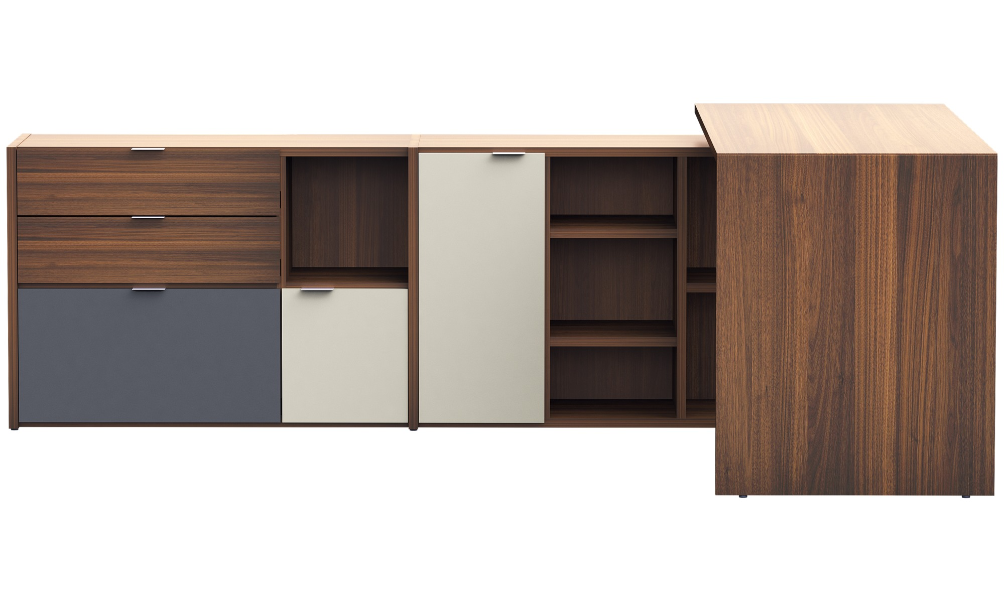 Desks - Copenhagen office system - Brown - Walnut