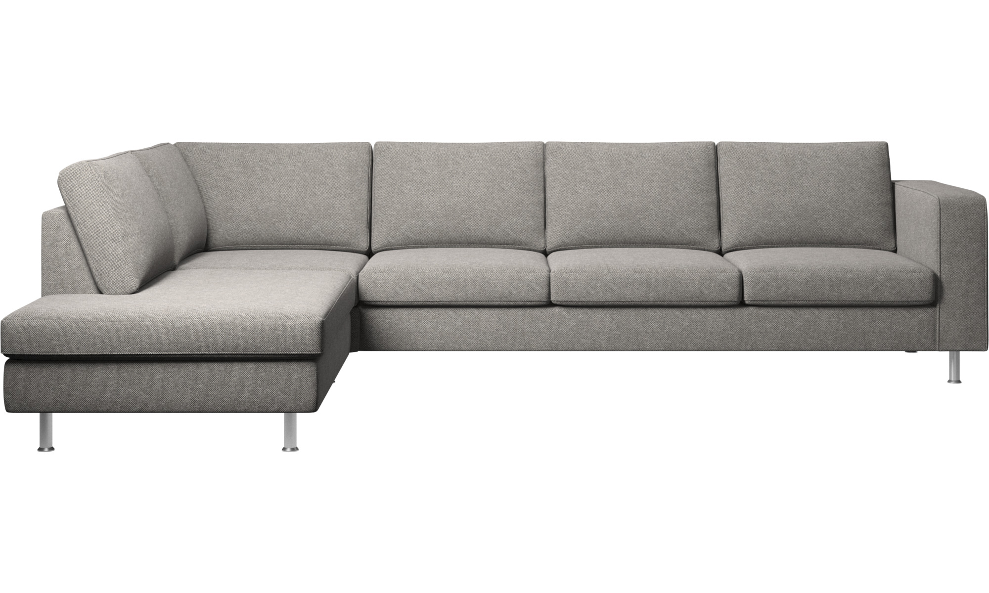 sofas with open end indivi 2 corner sofa with lounging unit boconcept. Black Bedroom Furniture Sets. Home Design Ideas