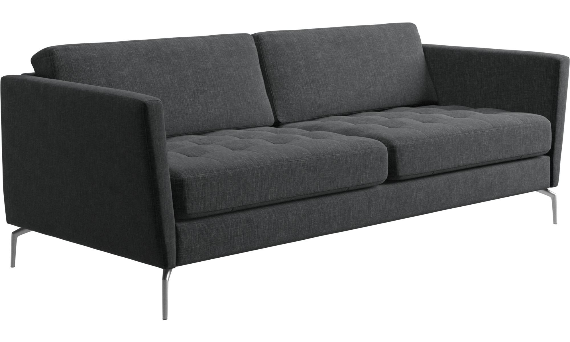 2 5 Seater Sofas Osaka Sofa Tufted Seat Gray Fabric