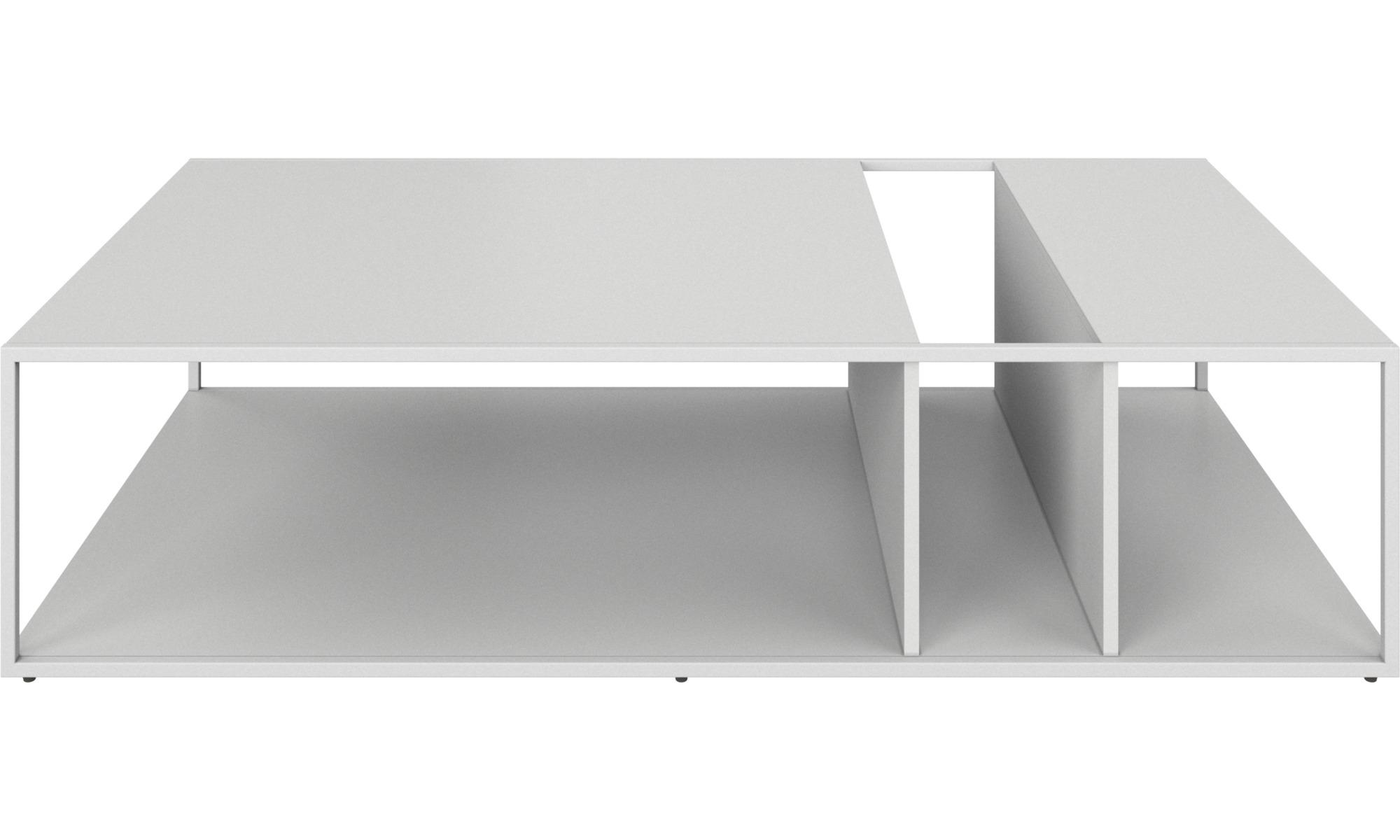 Tables basses - Table basse Philadelphia - rectangulaire - Blanc - Laqué