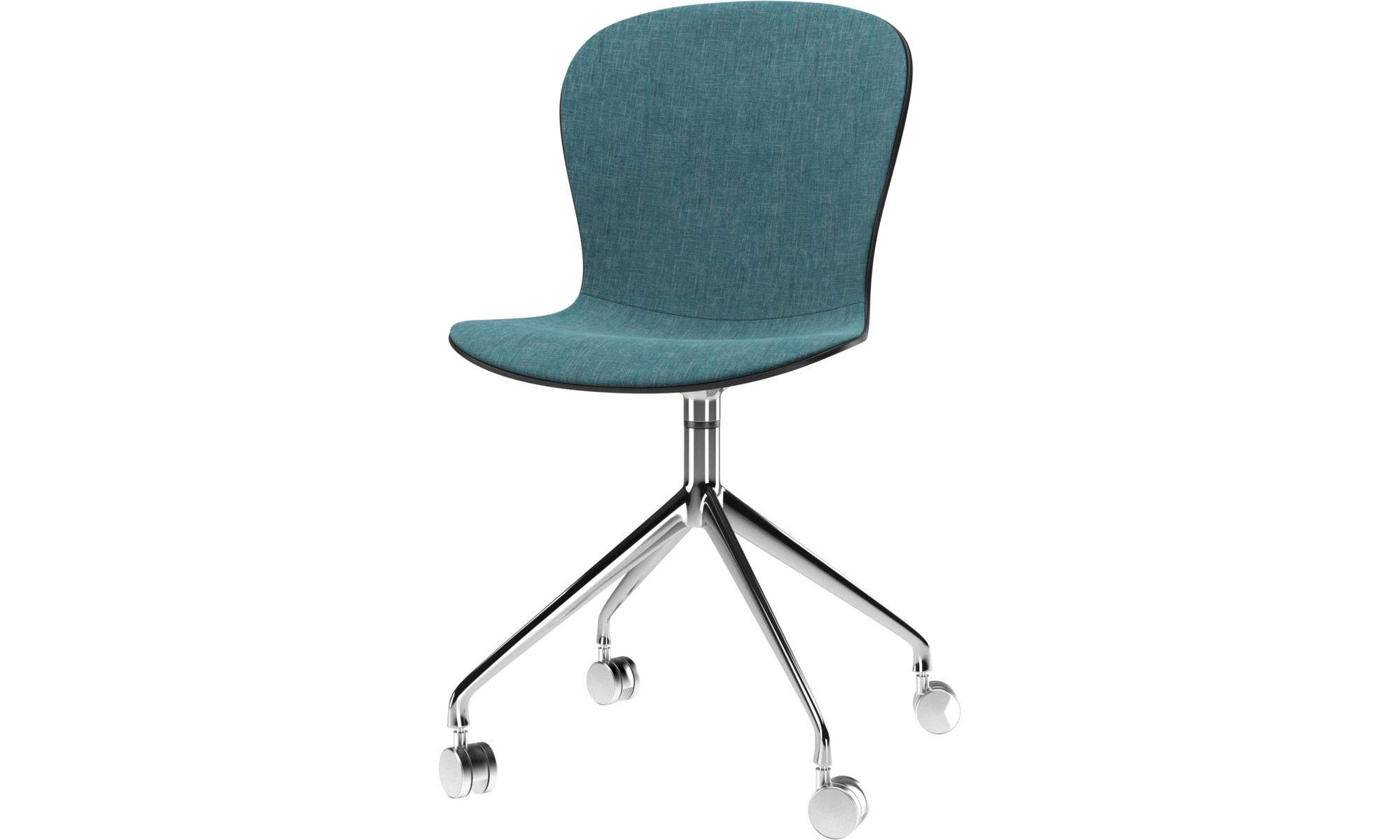 Chaises de salle manger chaise adelaide roulettes for Chaise pivotante