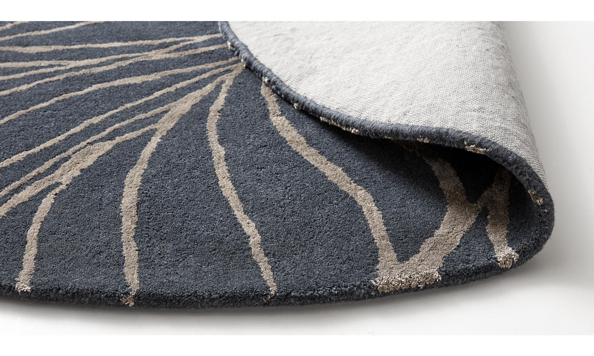 ... Runde Teppiche   Ankara Teppich   Rund   Blau   Stoff