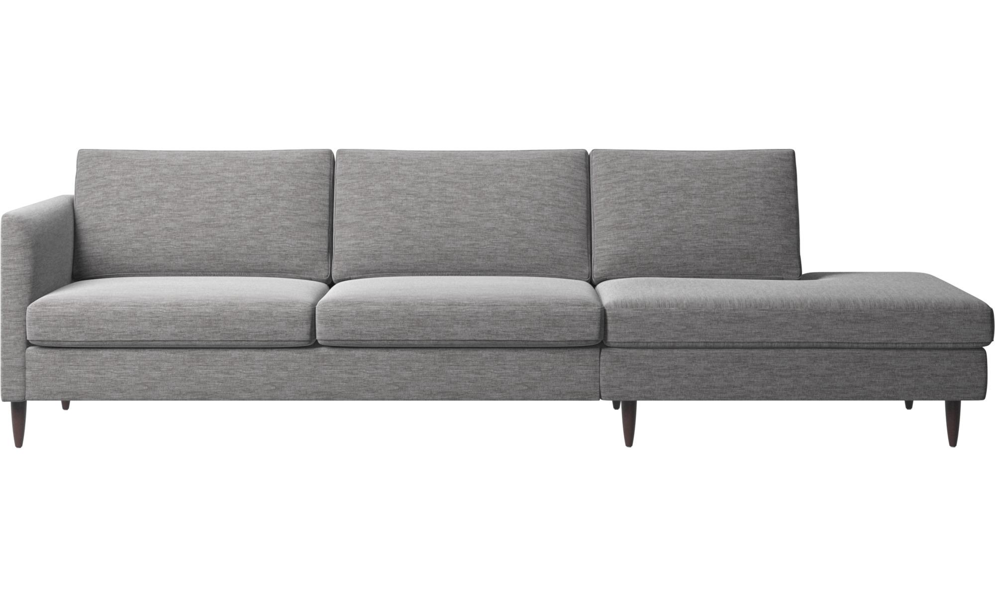 Sofaer med hvilemodul - Indivi sofa med loungemodul - Grå - Stof