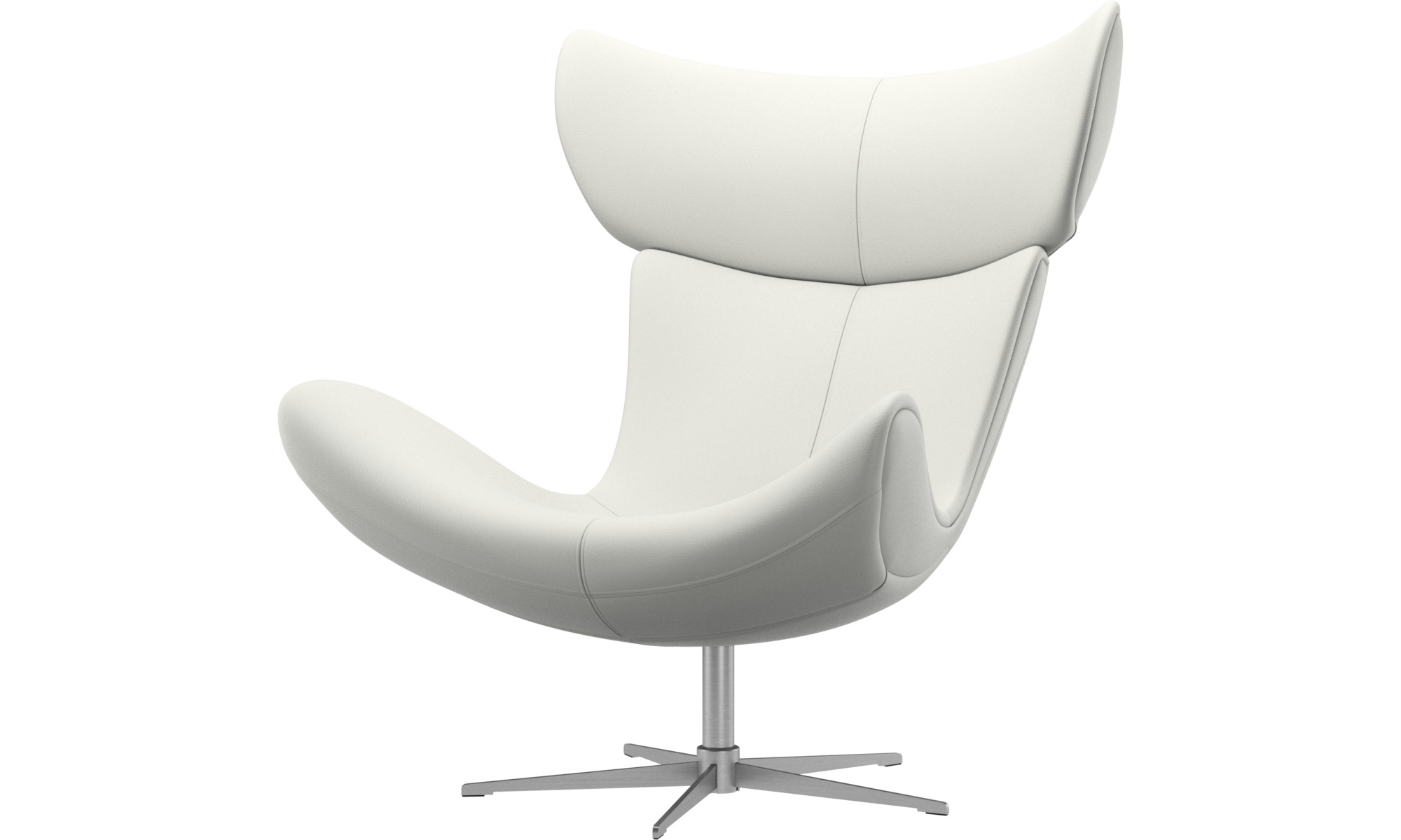 Armchairs - Imola chair with swivel function - White - Leather