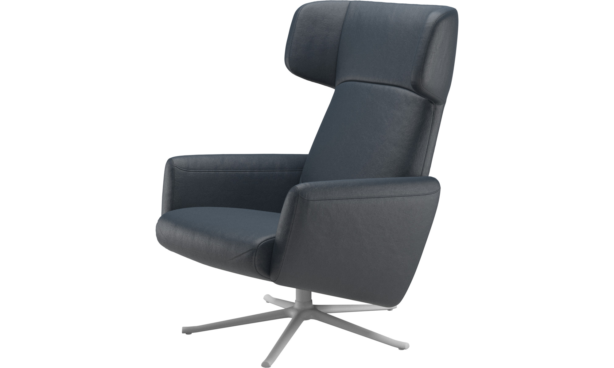 Recliners - Lucca wing recliner with swivel function - Blue - Fabric