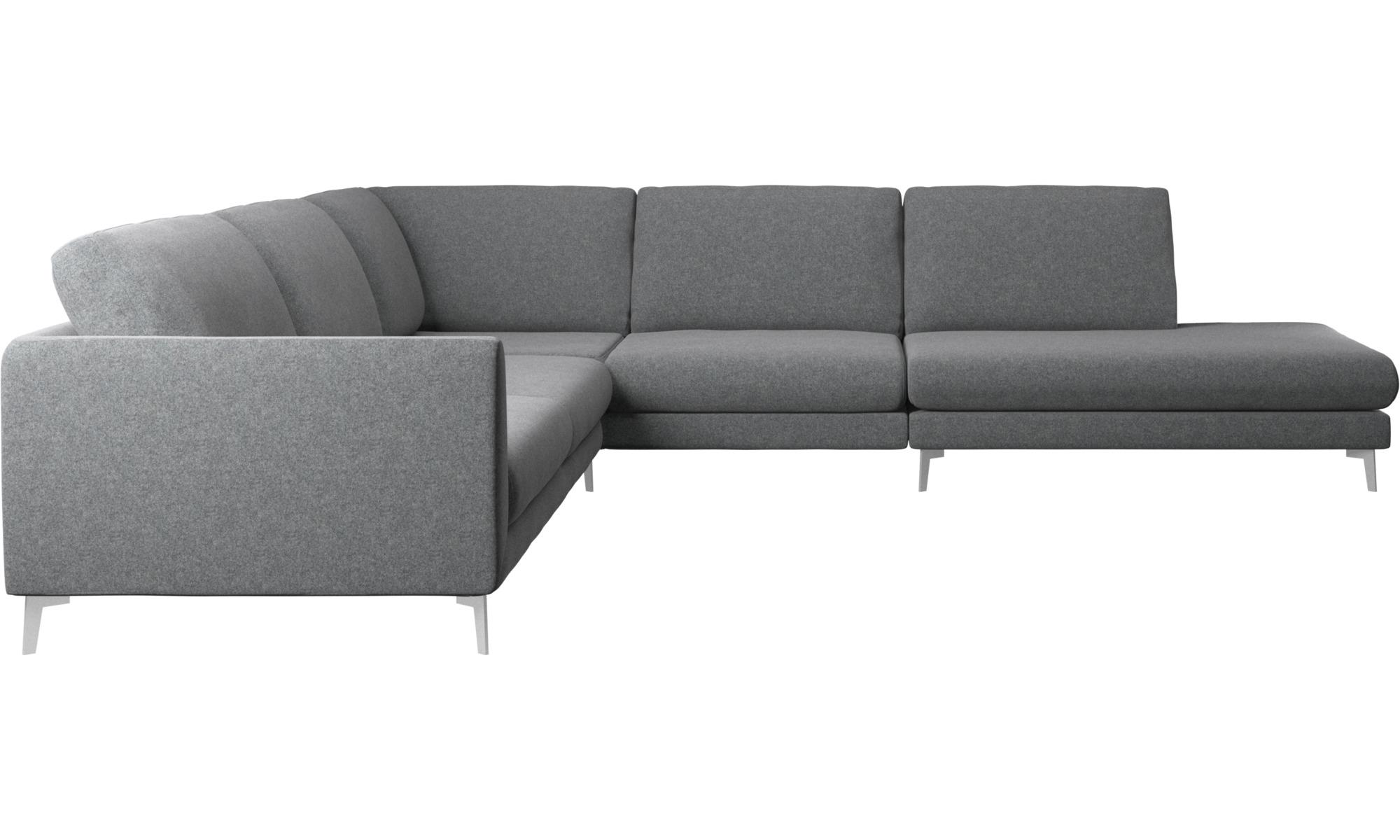 Hjørnesofaer - Fargo hjørnesofa med loungemodul - Grå - Stof