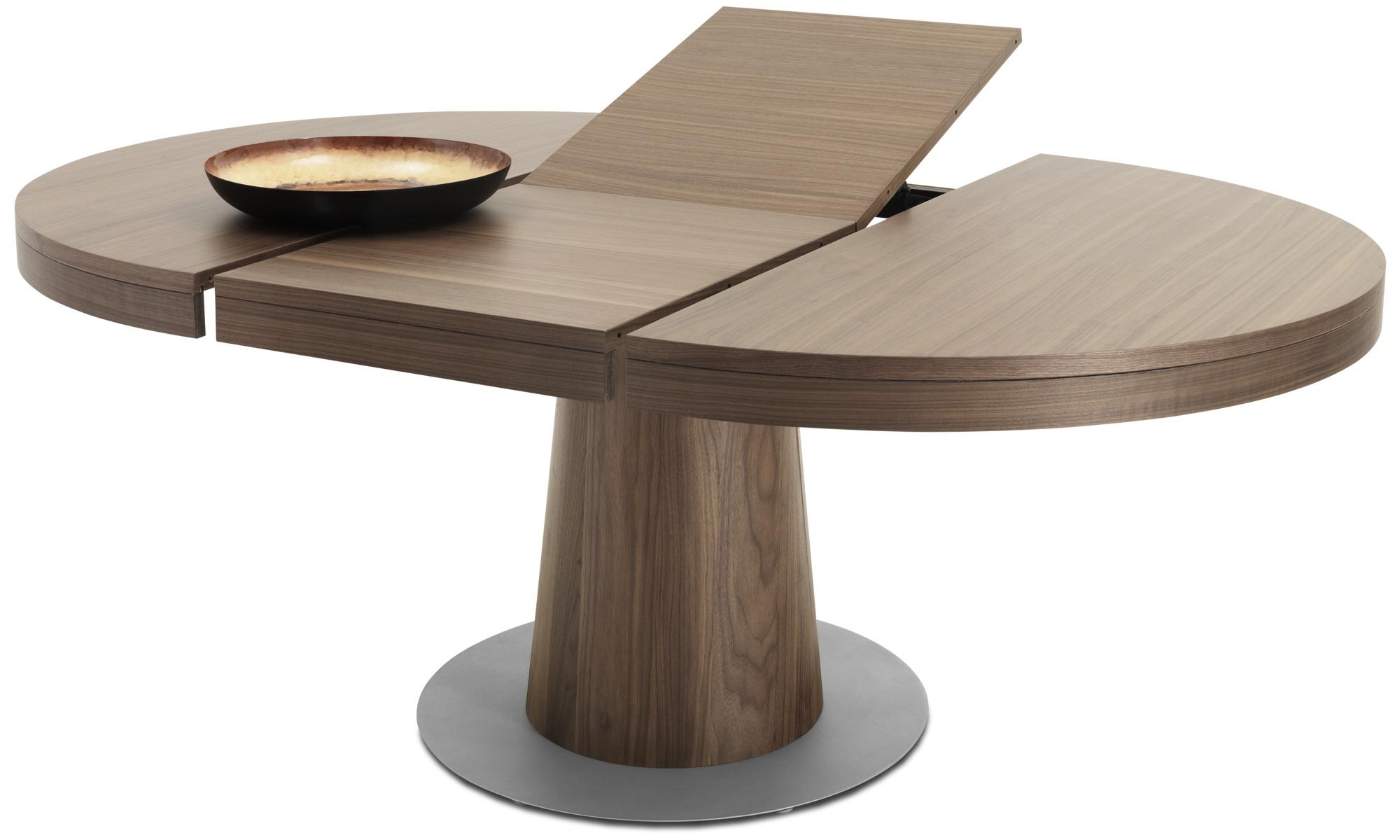 2656405396a Spiseborde - Granada bord med tillægsplade - rund - Brun - Valnød