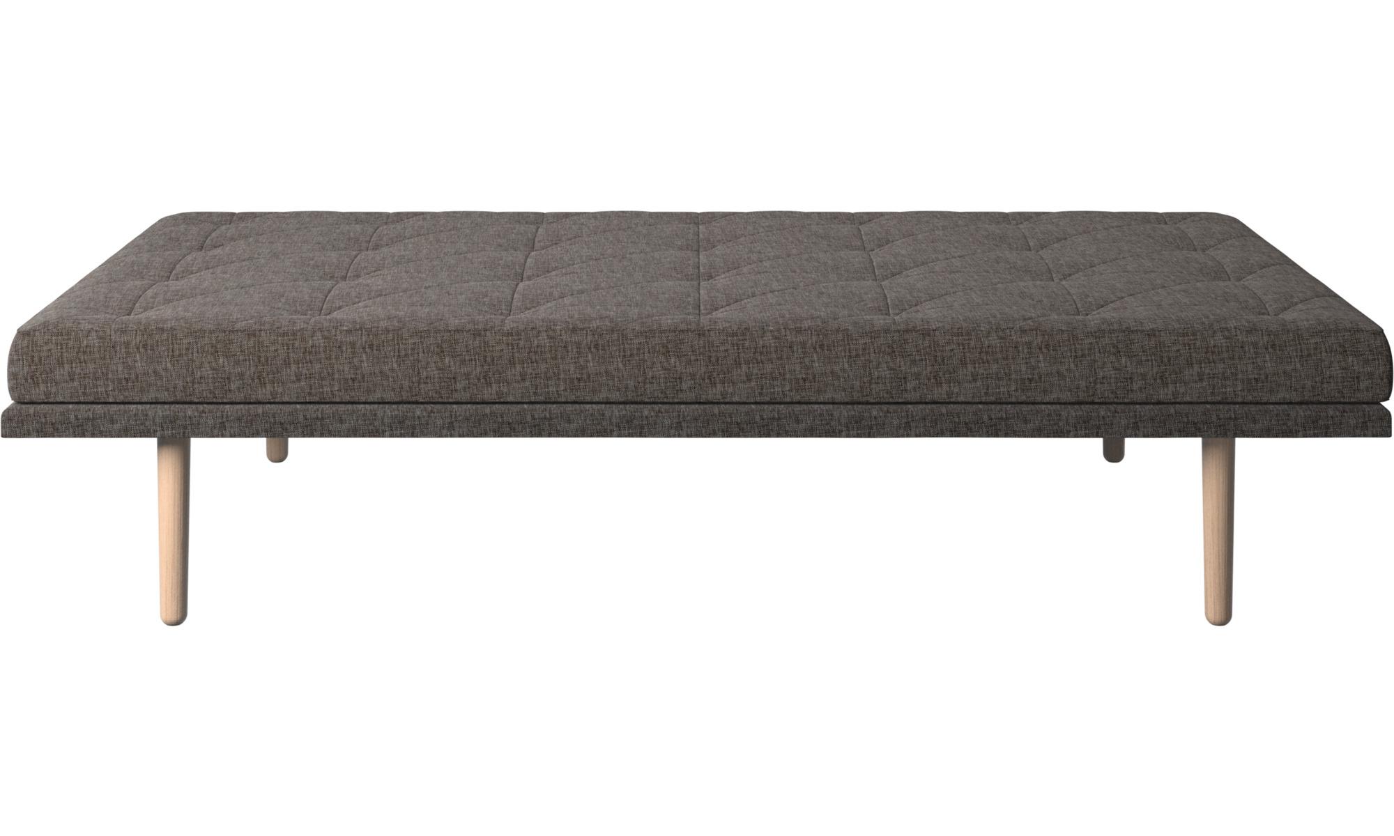 Divanes - Sofá-cama fusion - En marrón - Tela