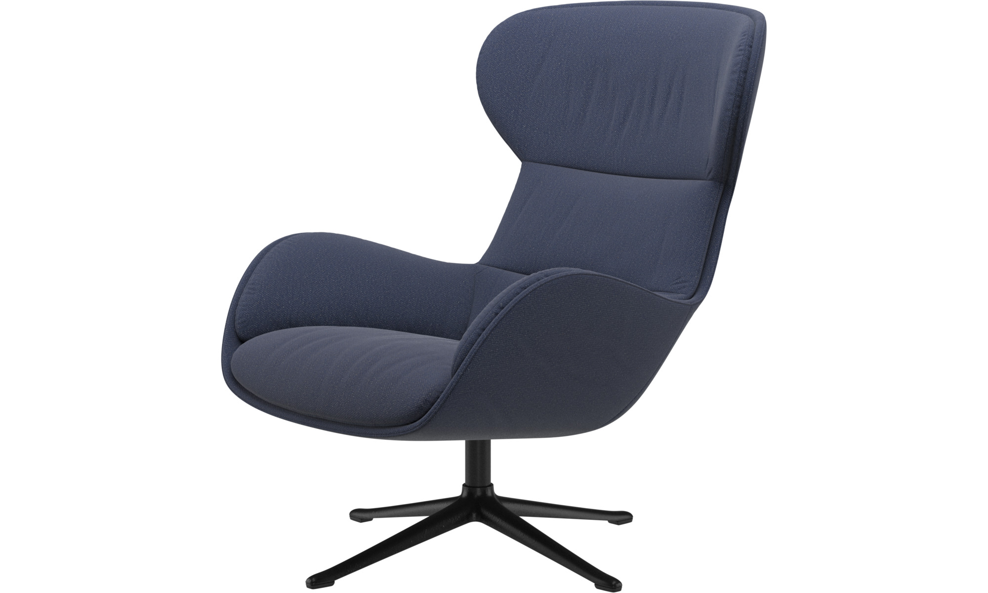 Armchairs - Reno chair with swivel function - Blue - Fabric