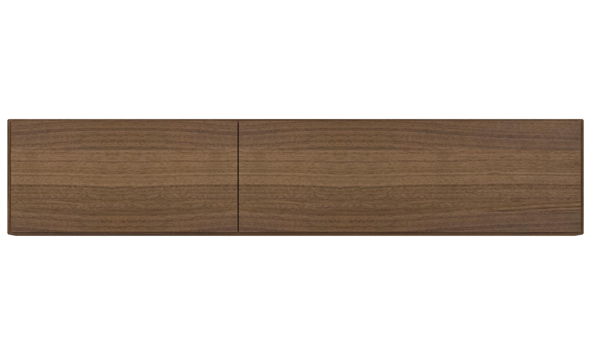 Murales meuble lugano avec fixation murale et portes for Fixer un meuble mural ikea