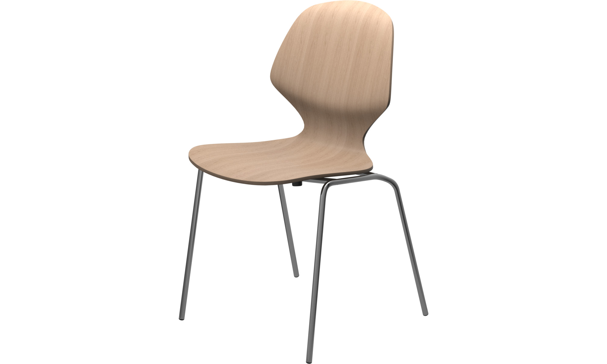 Dining chairs - Florence chair - Brown - Oak