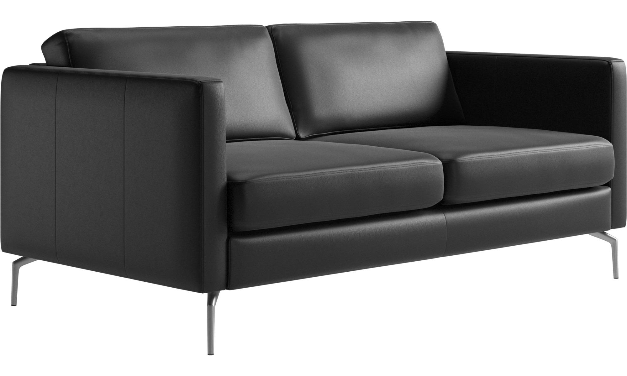 2 Seater Sofas Osaka Sofa Regular Seat Black Leather