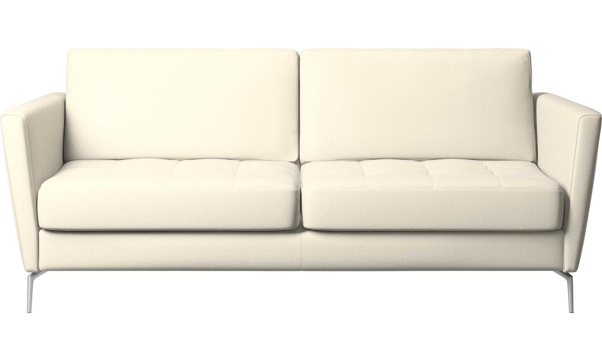 Sofa beds - Osaka sofa bed, tufted seat - White - Leather