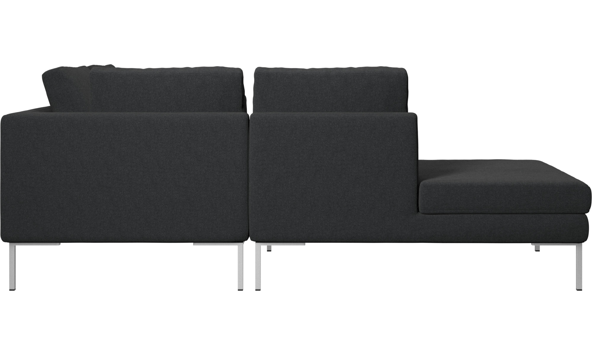 Sofas With Open End Istra 2 Sofa Lounging Unit Gray Fabric