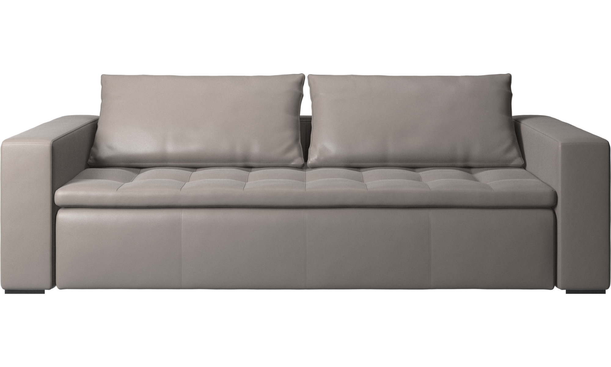 3 personers sofaer - Mezzo sofa - Beige - Læder