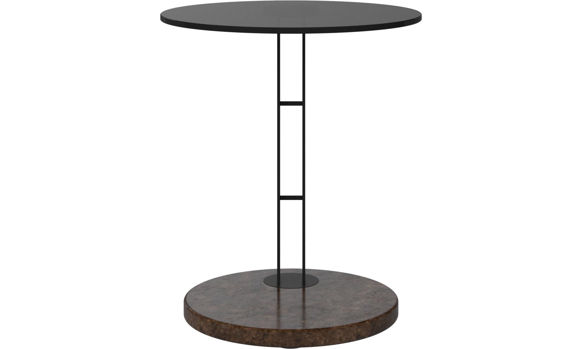 Petits meubles - Table d'appoint Venezia - rotonde - Marron - Verre