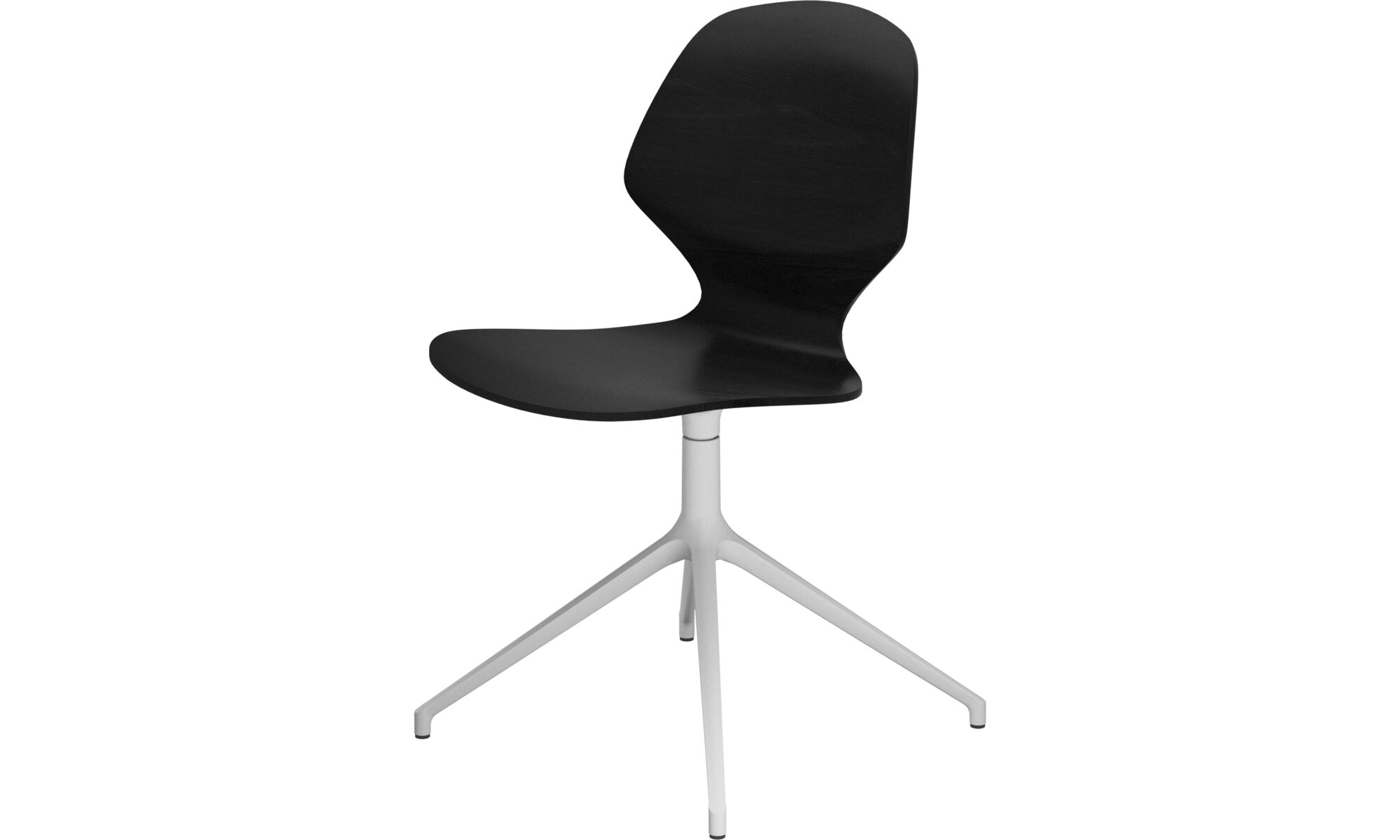 Dining chairs - Florence chair with swivel function - Black - Lacquered