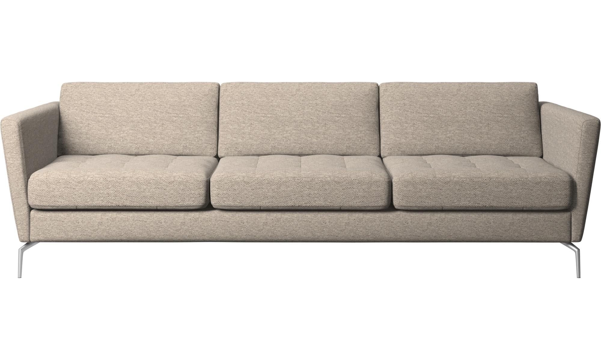 3-sitzer Sofas - Osaka Sofa, getuftete Sitzfläche - Beige - Stoff