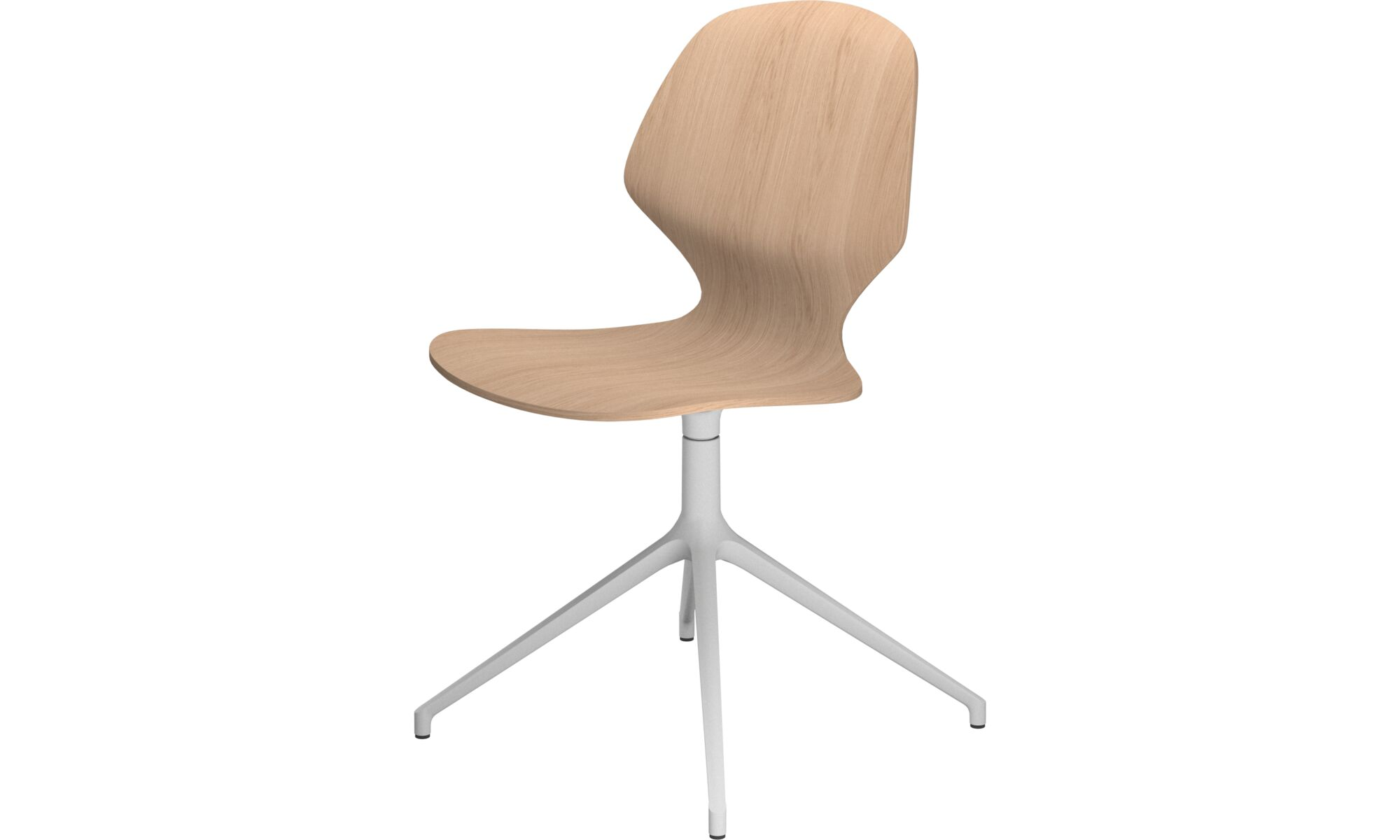 Dining chairs - Florence chair with swivel function - Brown - Oak