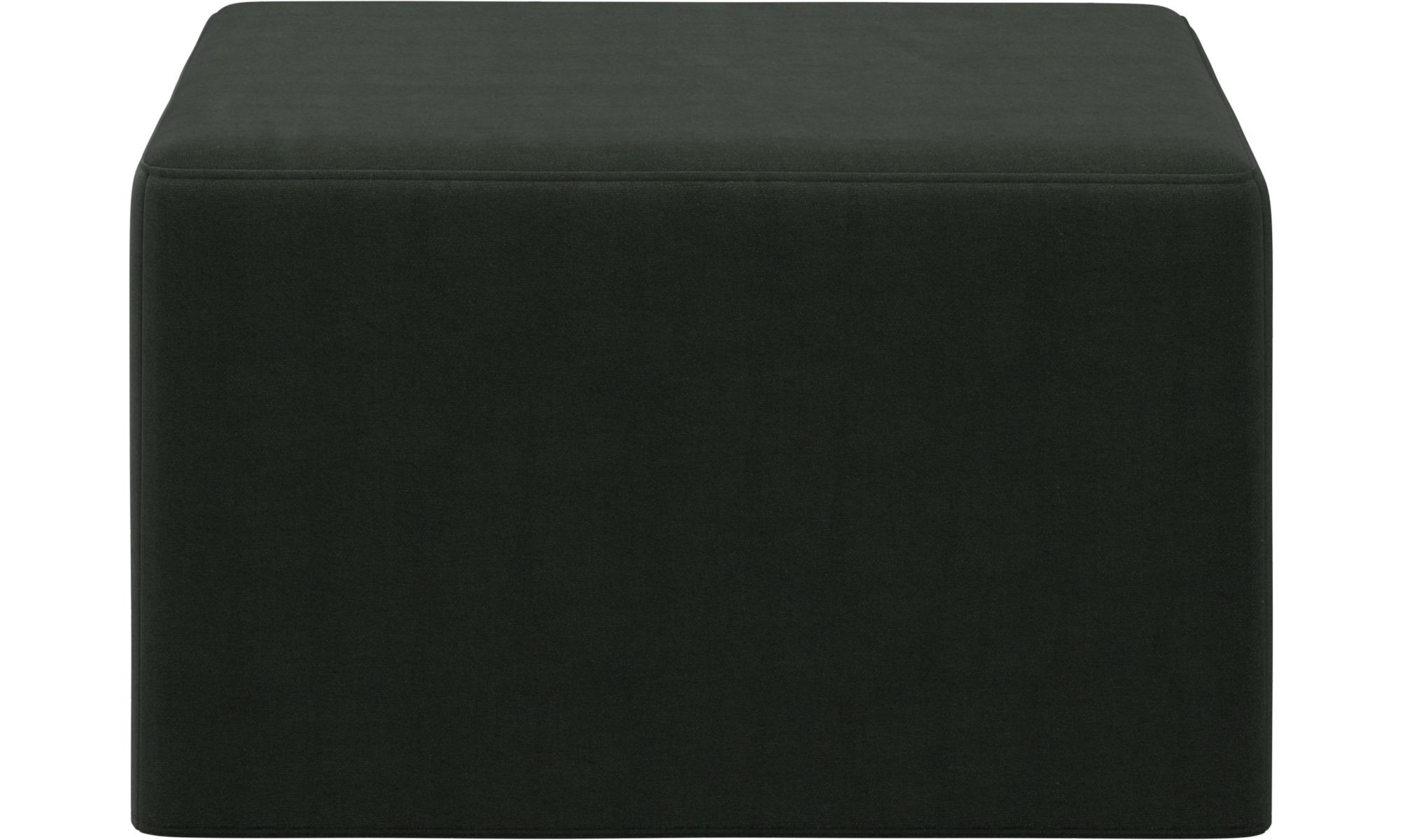 Sofy rozkładane - Puf Xtra z funkcją spania - Zielony - Tkanina
