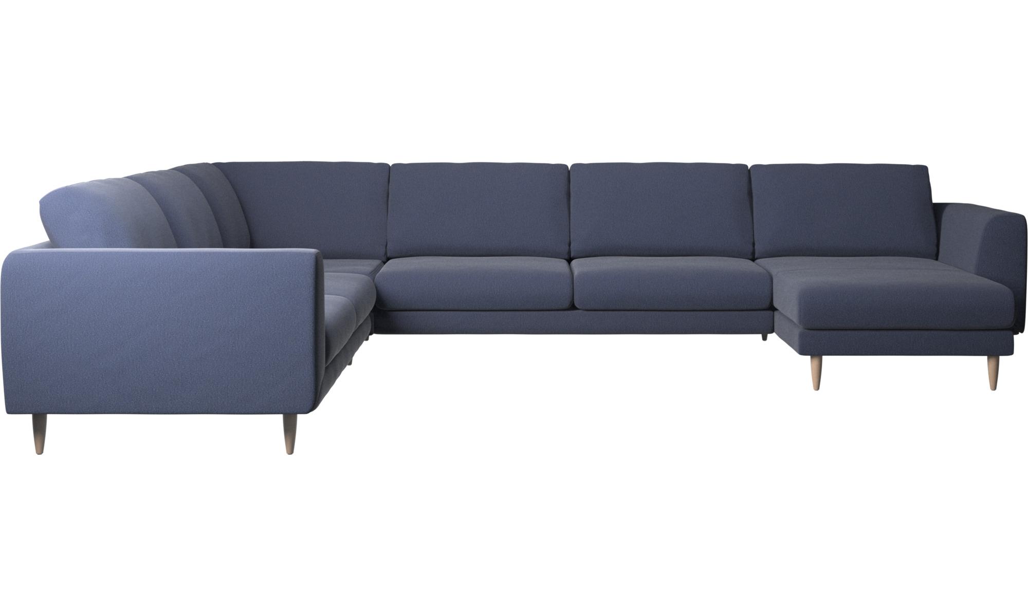Fargo corner sofa with resting unit