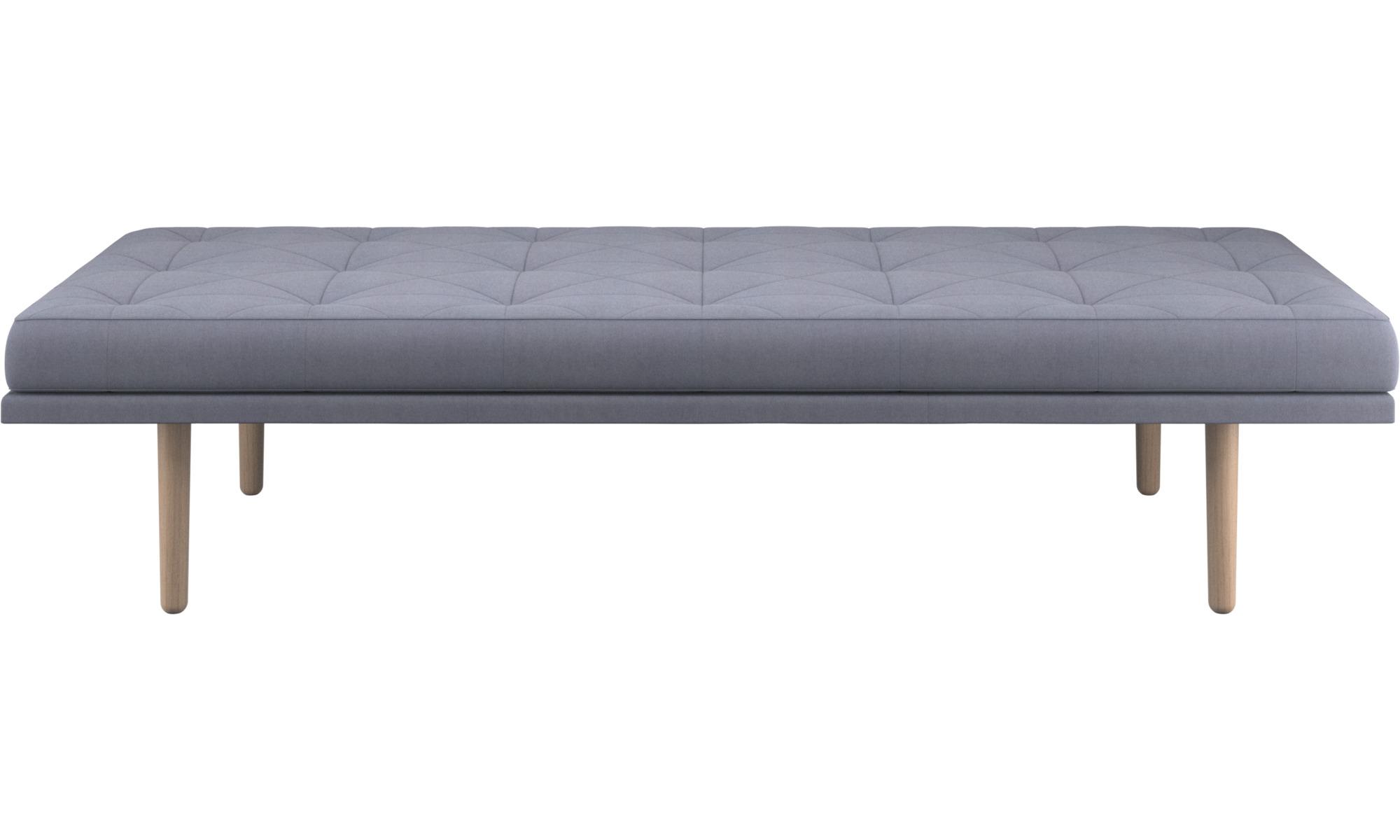 Divanes - Sofá-cama fusion - En azul - Tela
