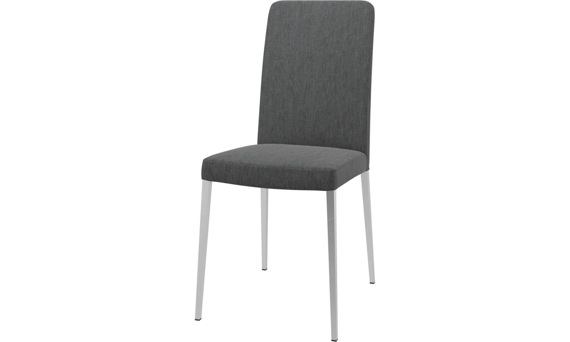 Cadeiras de jantar - Cadeira Nico - Cinza - Tecido