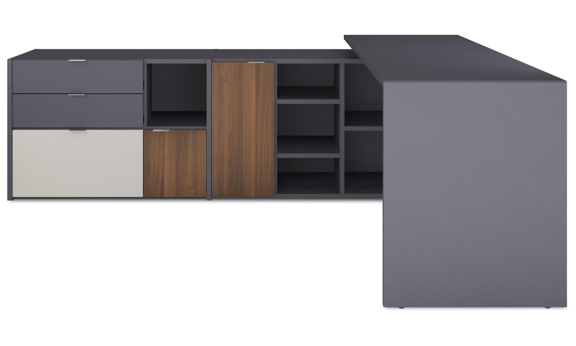 Desks - Copenhagen office system - Grey - Lacquered