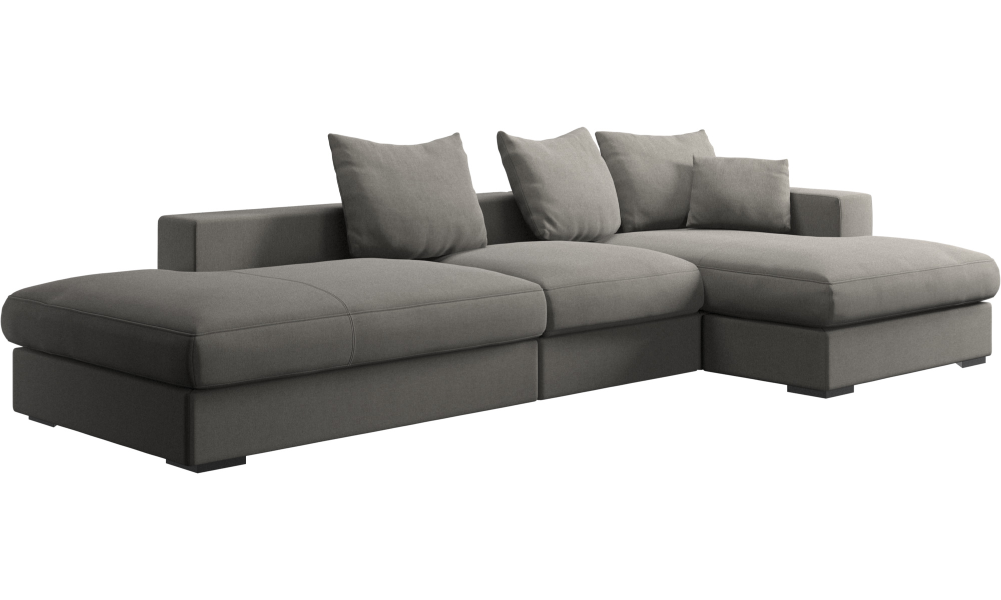 1447a7733f7f ... 3 seater sofas - Cenova sofa with lounging and resting unit - Grey -  Fabric