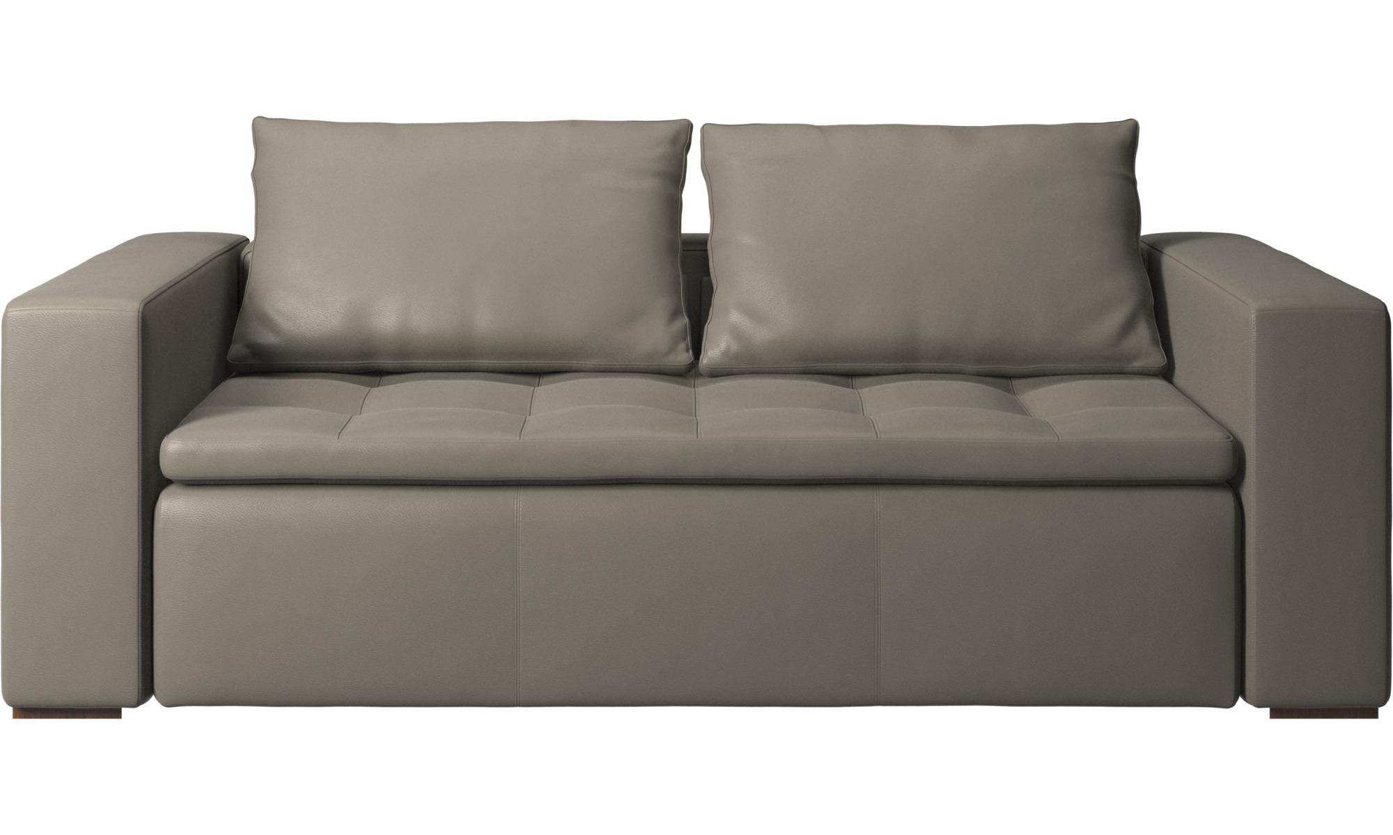 2½ personers sofaer - Mezzo sofa - Grå - Læder