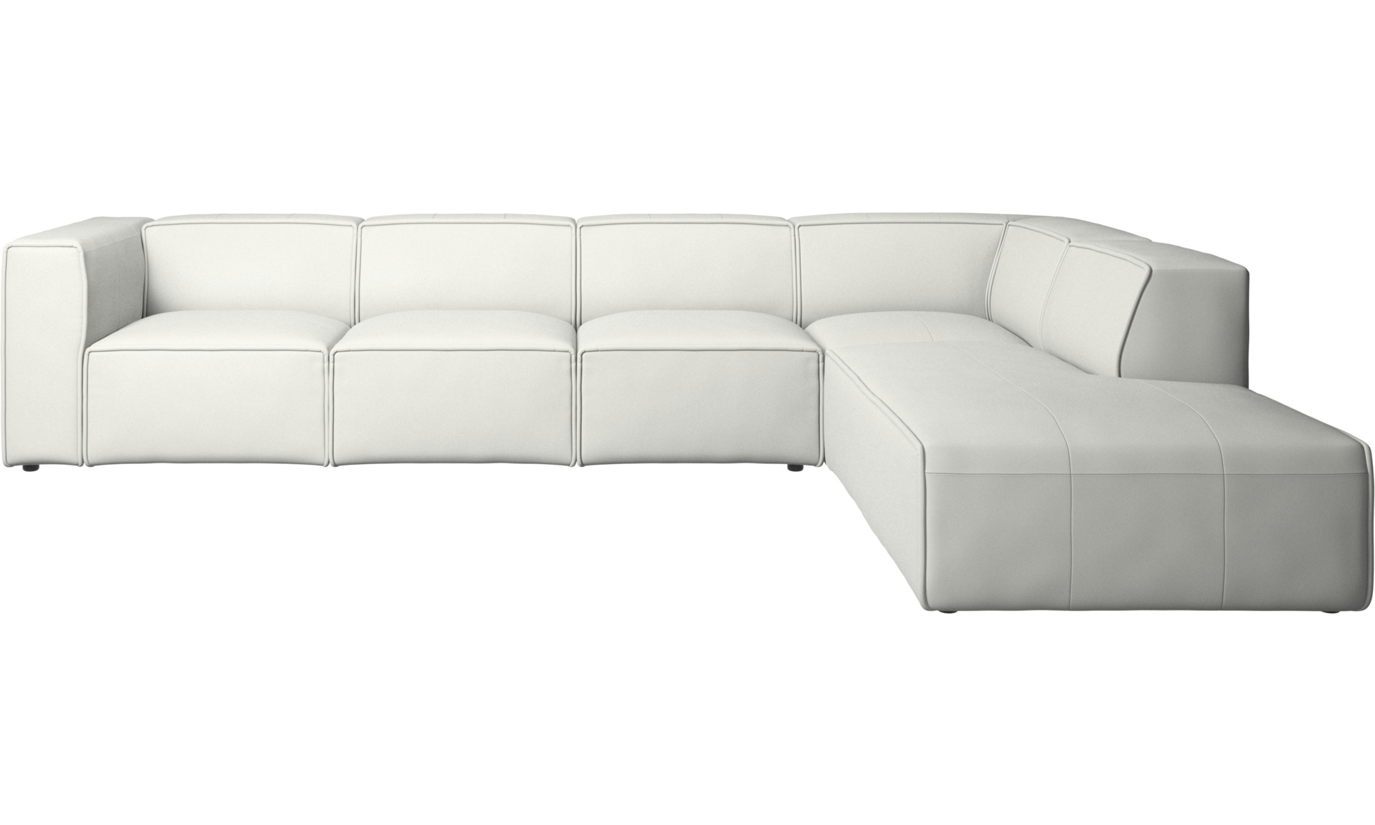 White Leather Corner Sofas Boconcept