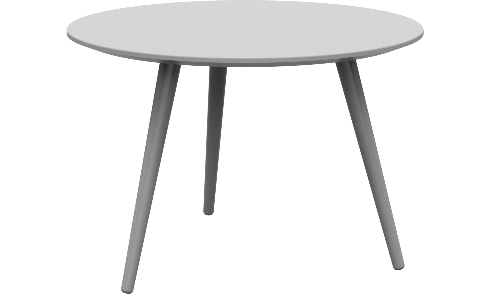Night stands - Bornholm coffee table - round - White - Lacquered