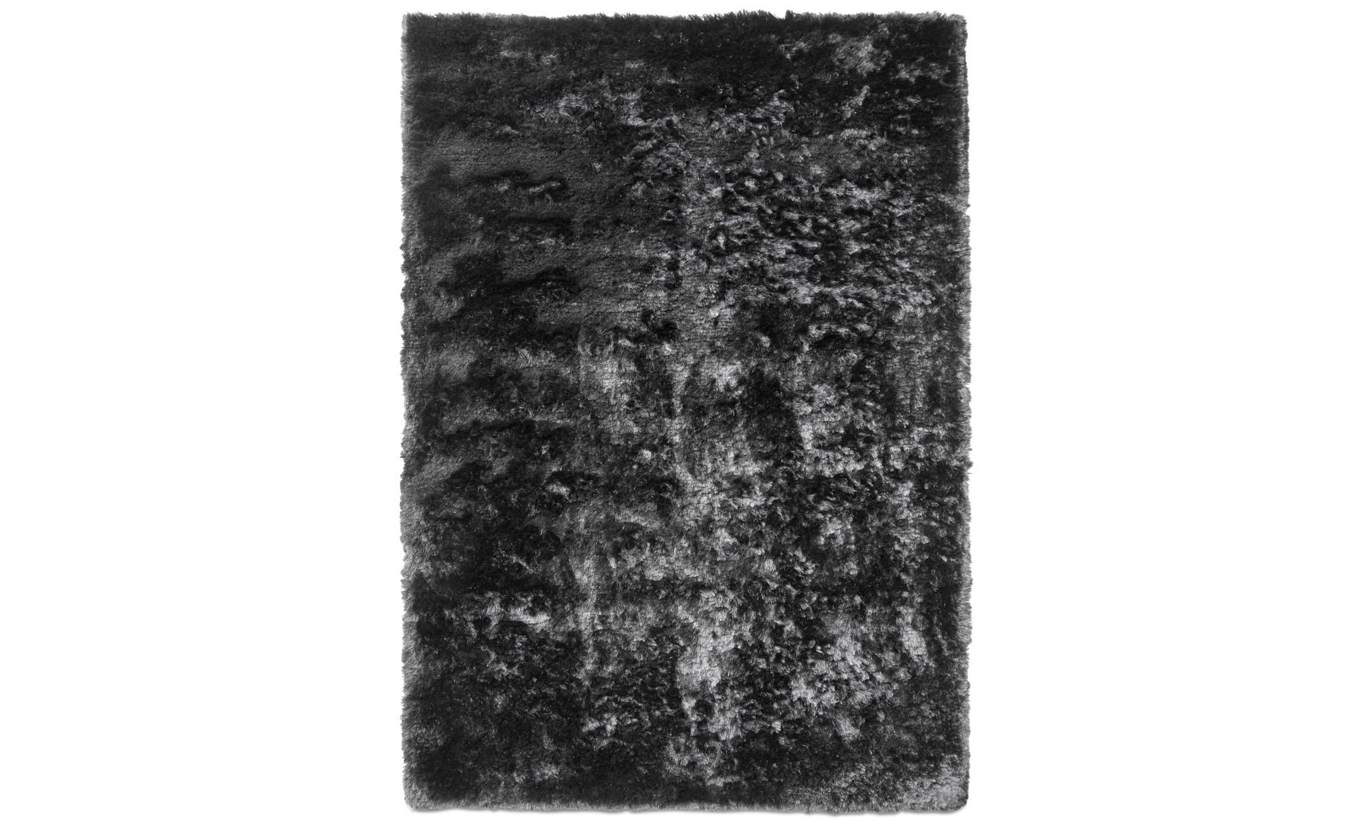 Runda mattor - Beijing matta - rektangulär - Grå - Tyg