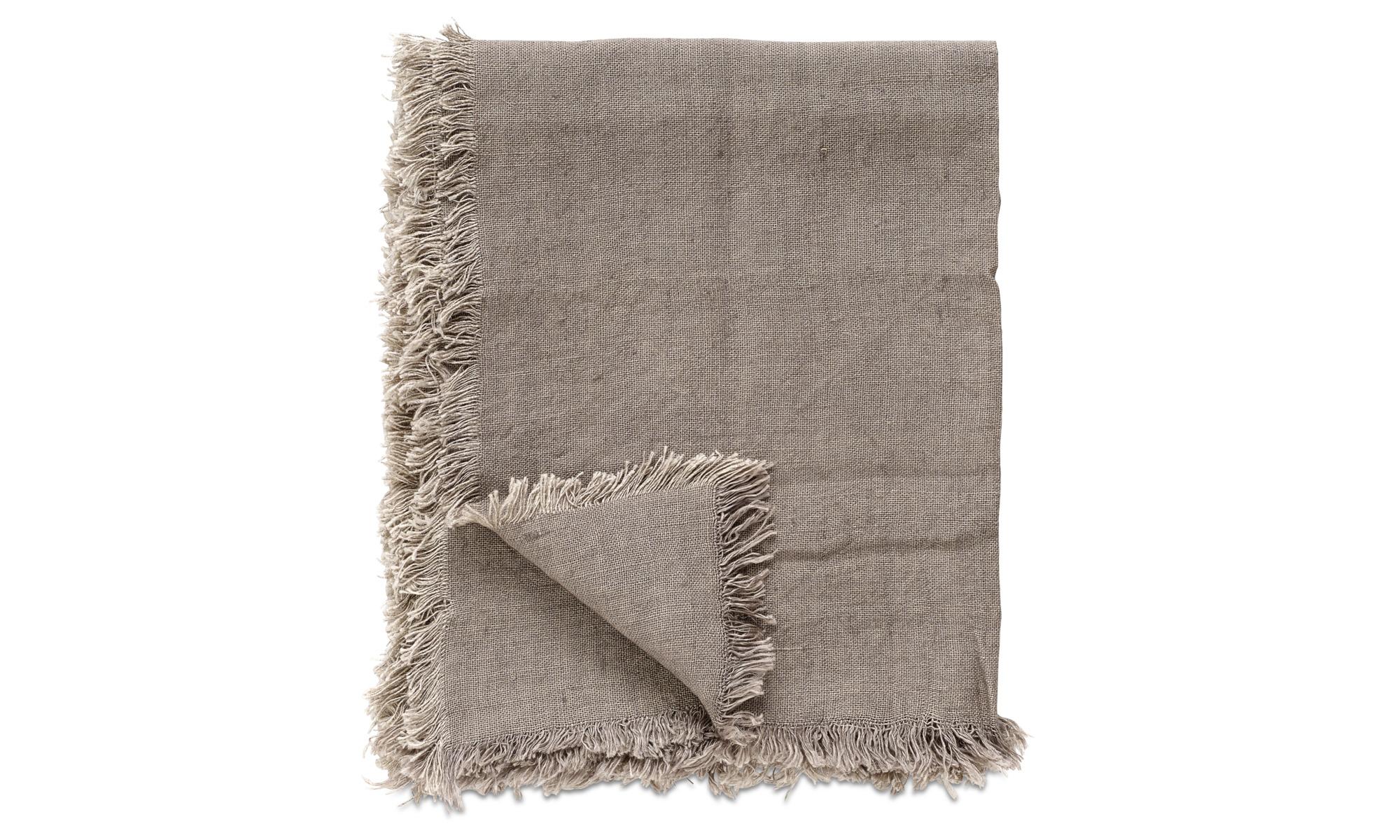 Narzuty - Pled Linen - Brązowy - Tkanina