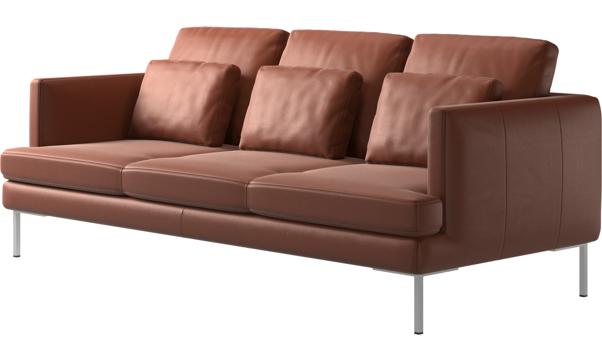 ... 3 Seater Sofas   Istra 2 Sofa   Brown   Leather ...