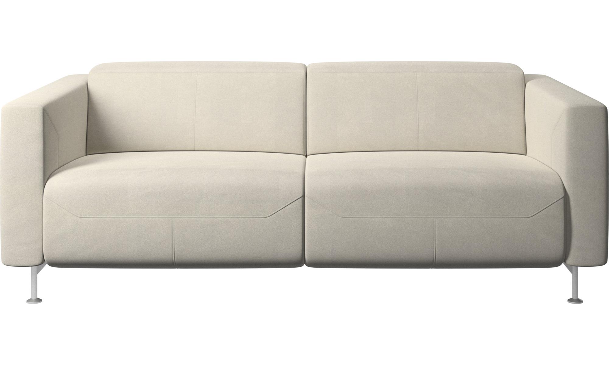 Justerbare sofaer - Parma sofa med hvilefunktion - Hvid - Stof