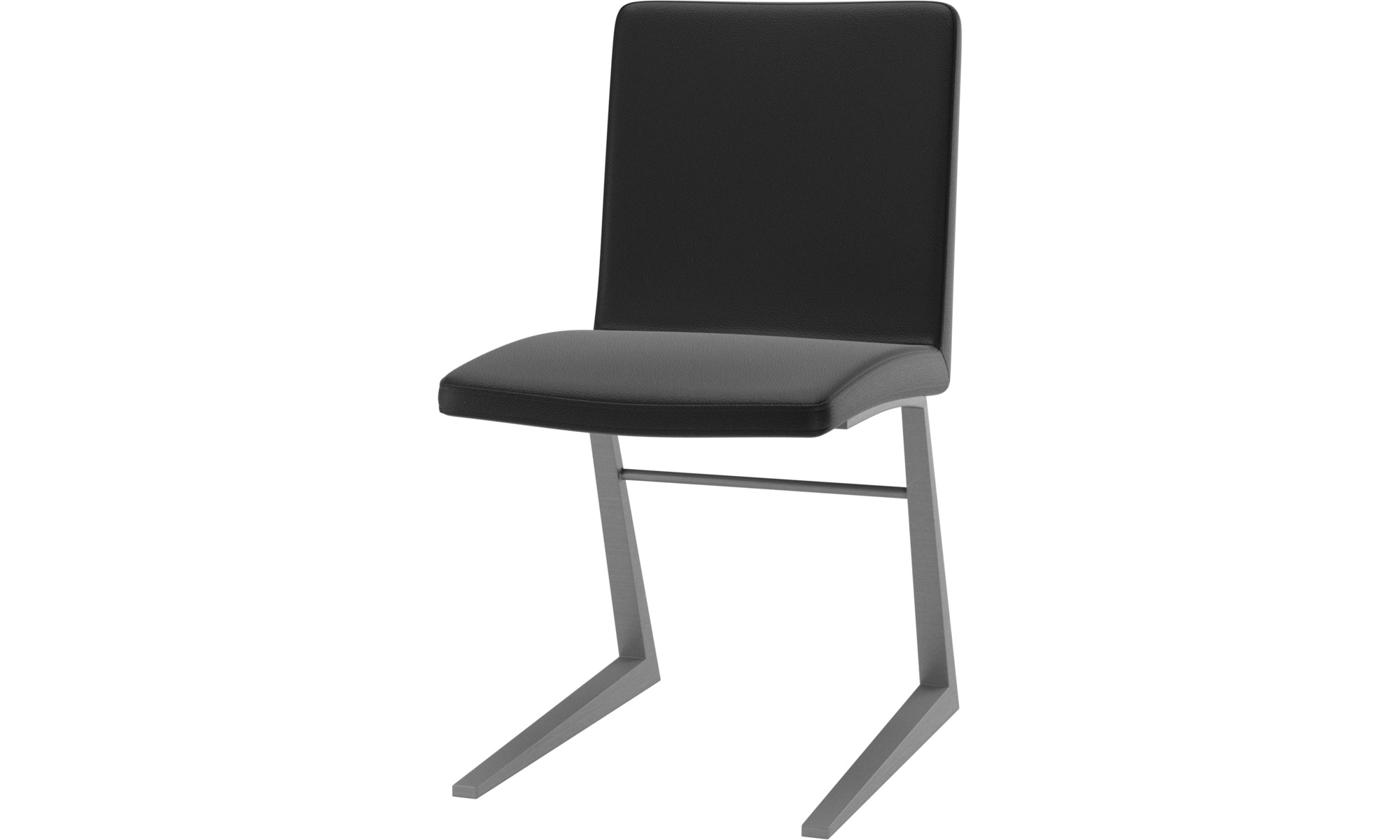 Dining chairs - Mariposa Deluxe chair - Black - Leather