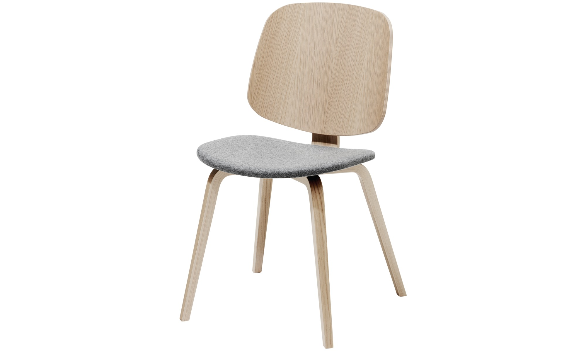 Dining chairs - Aarhus dining chair - Grey - Fabric