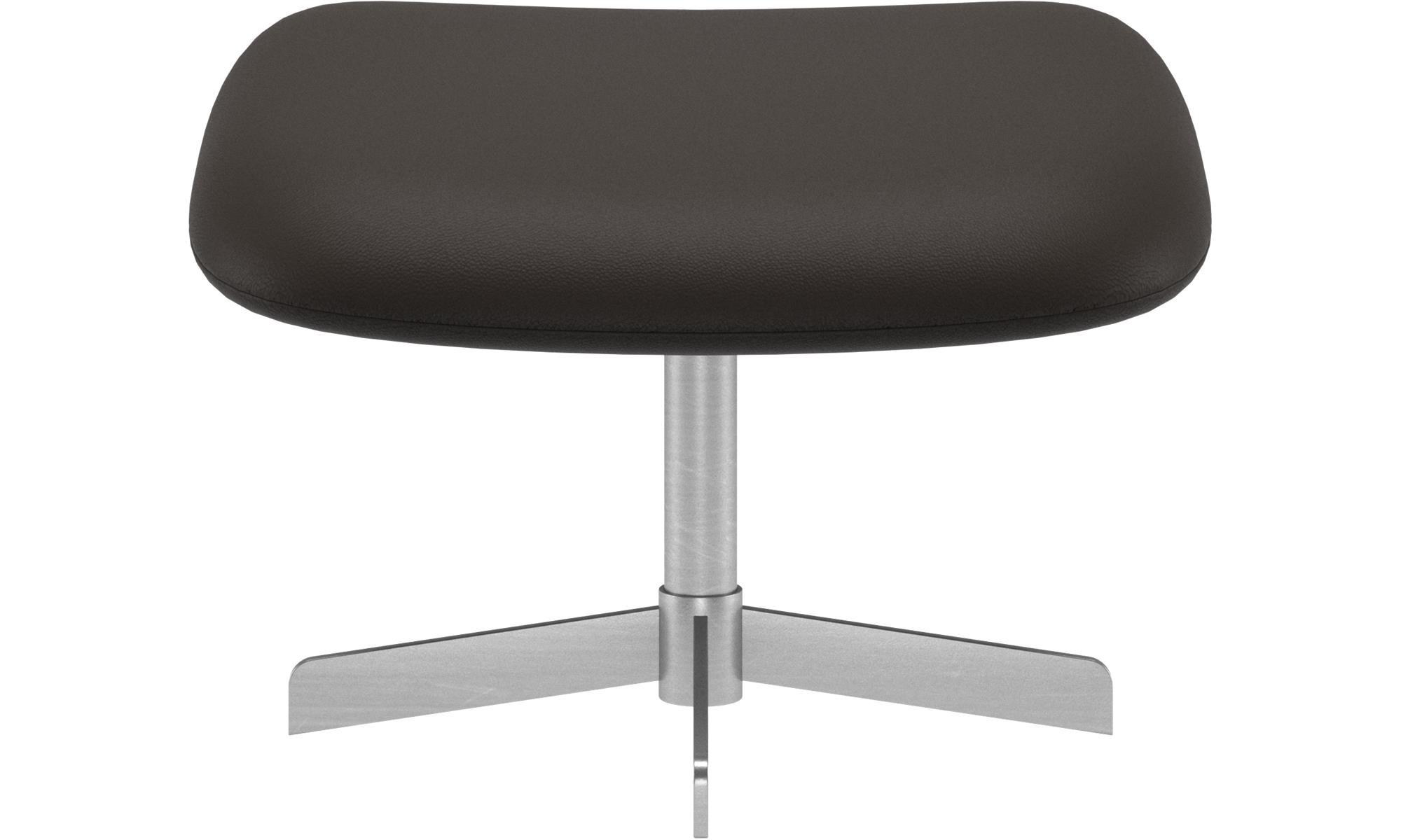 Footstools - Athena footstool - Brown - Leather