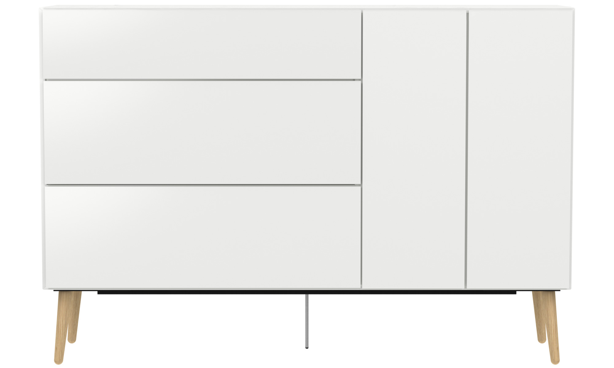 sideboards lugano highboard with drawers and drop down. Black Bedroom Furniture Sets. Home Design Ideas