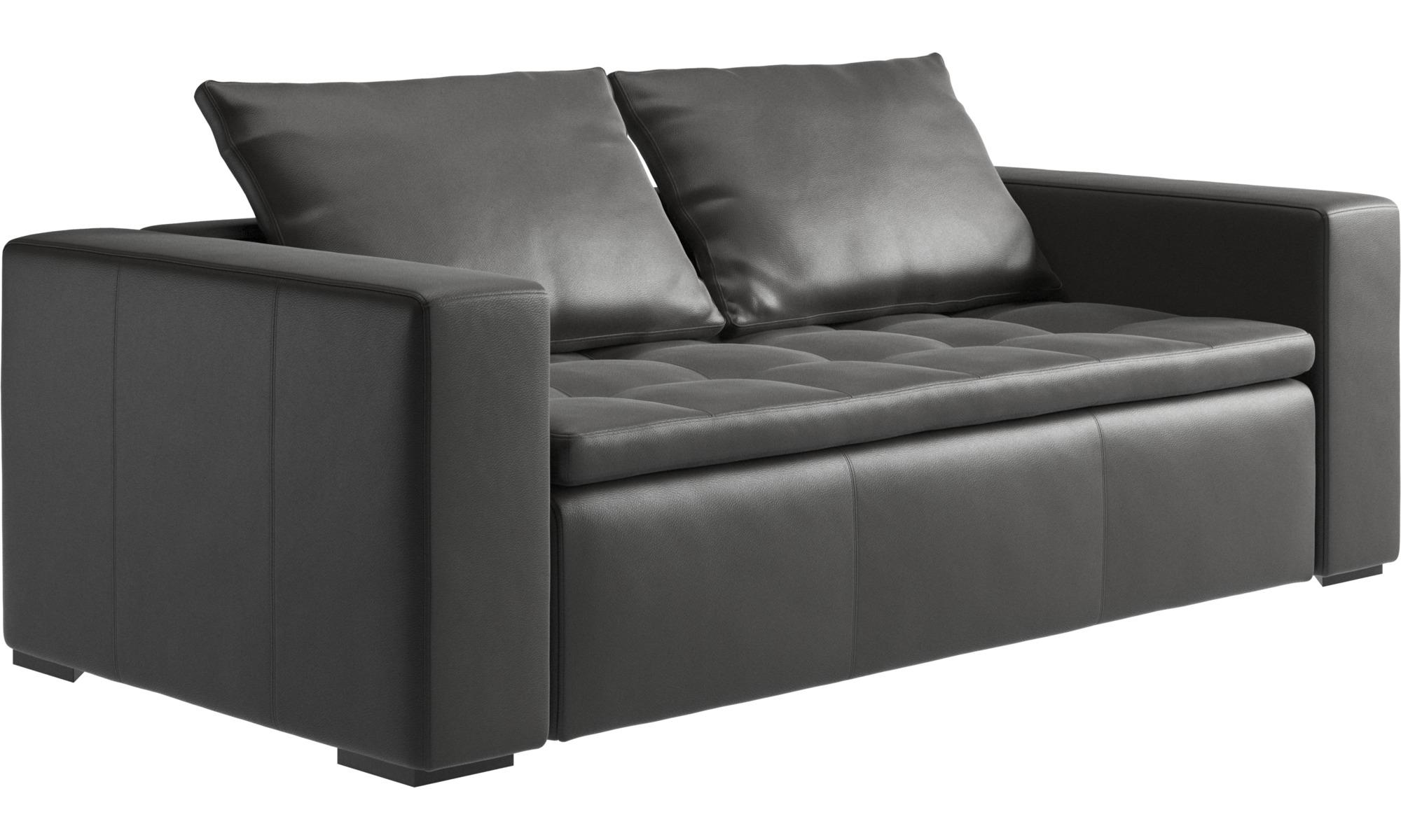 2 5 Seater Sofas Mezzo Sofa Gray Leather