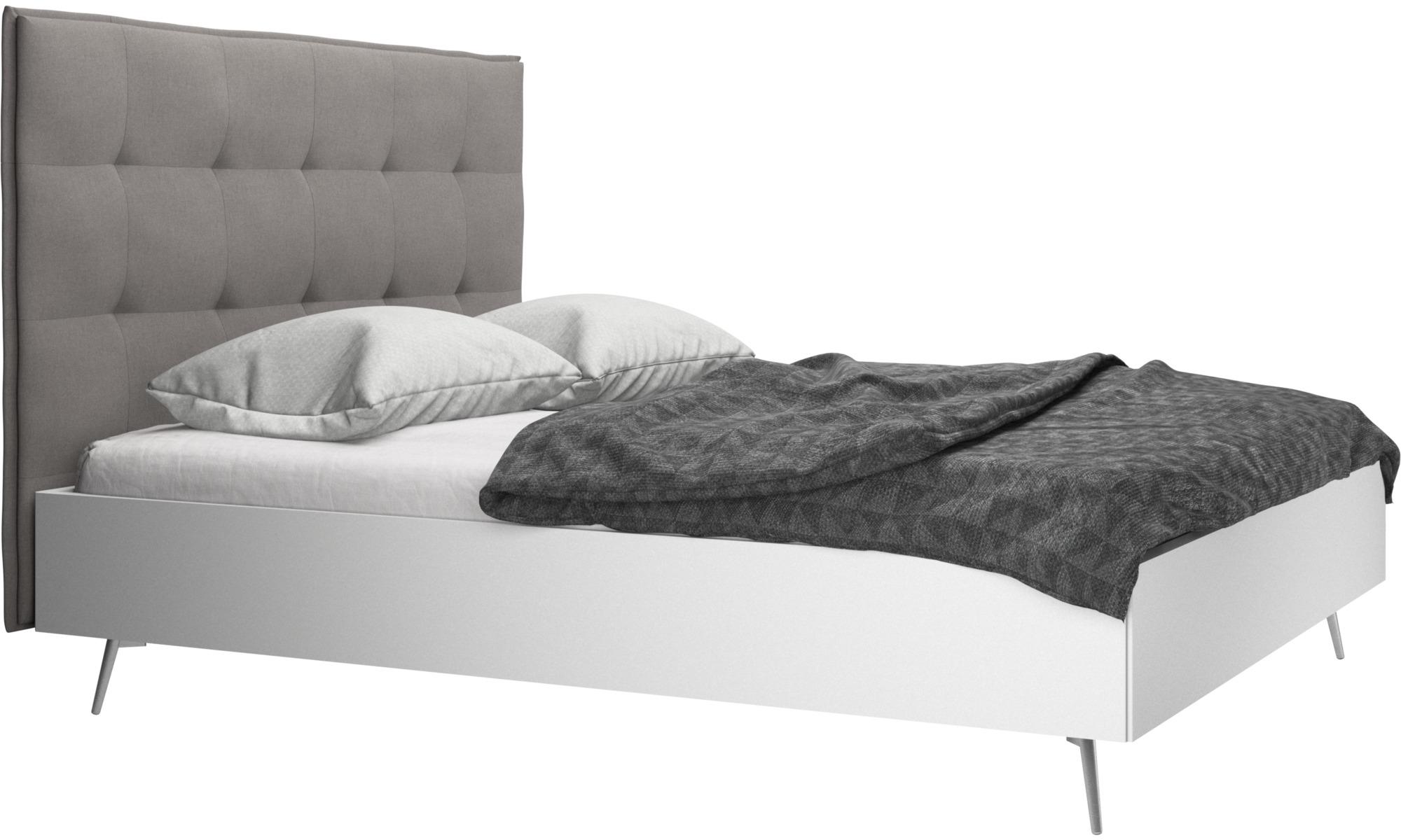 Camas - Cama Lugano, no incluye colchón - En gris - Tela